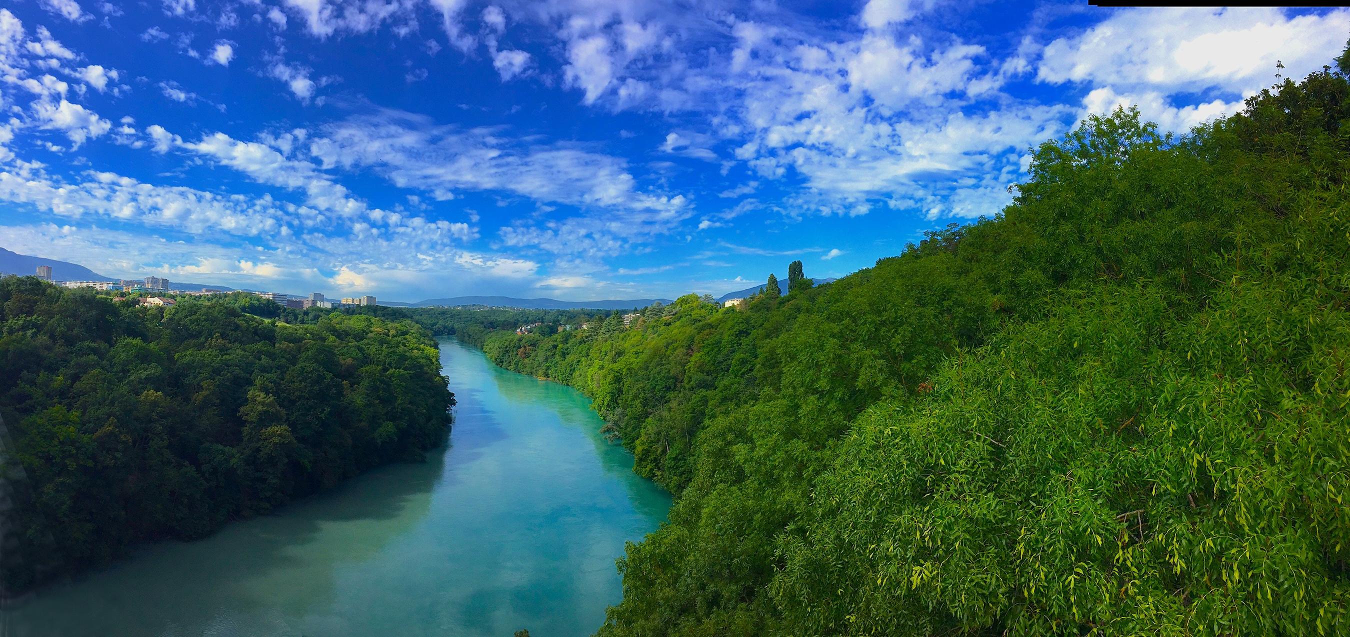 Free Images Swiss Geneva River Rhone Bridge Water