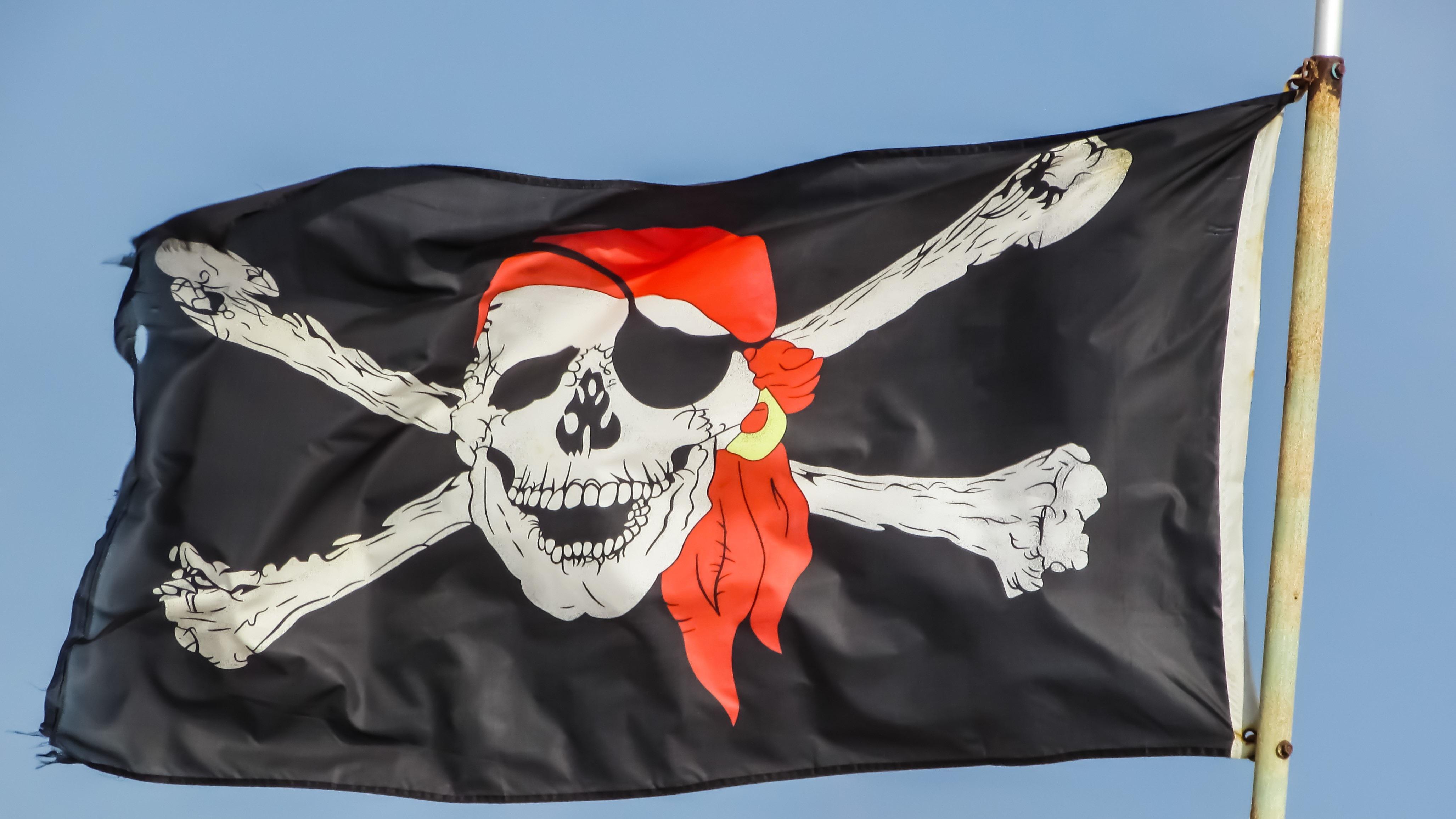 фасадная вывеска фото пиратских флагов представьте