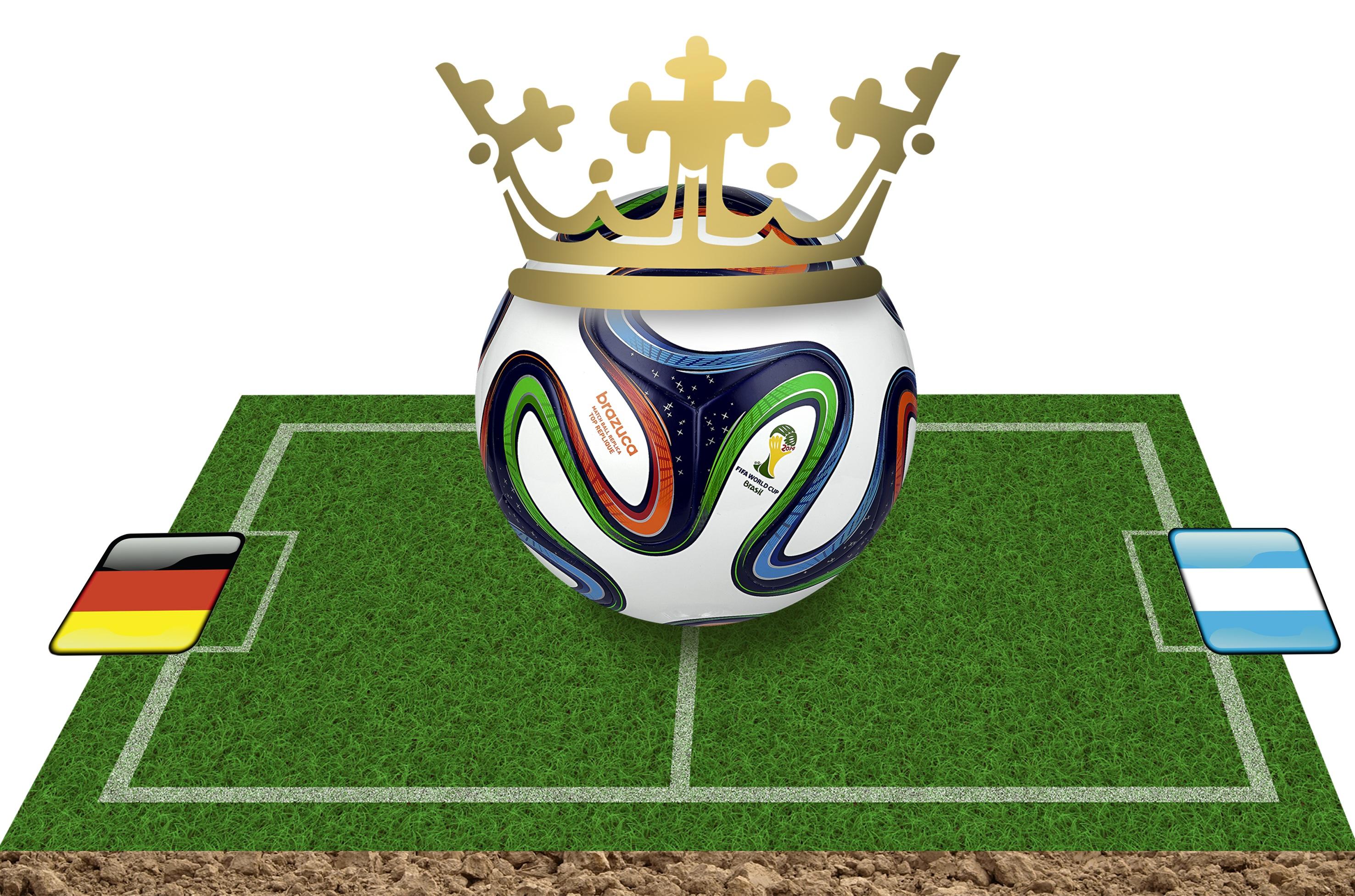 Gambar Simbol Sepak Bola Mahkota Ilustrasi Jerman Argentina