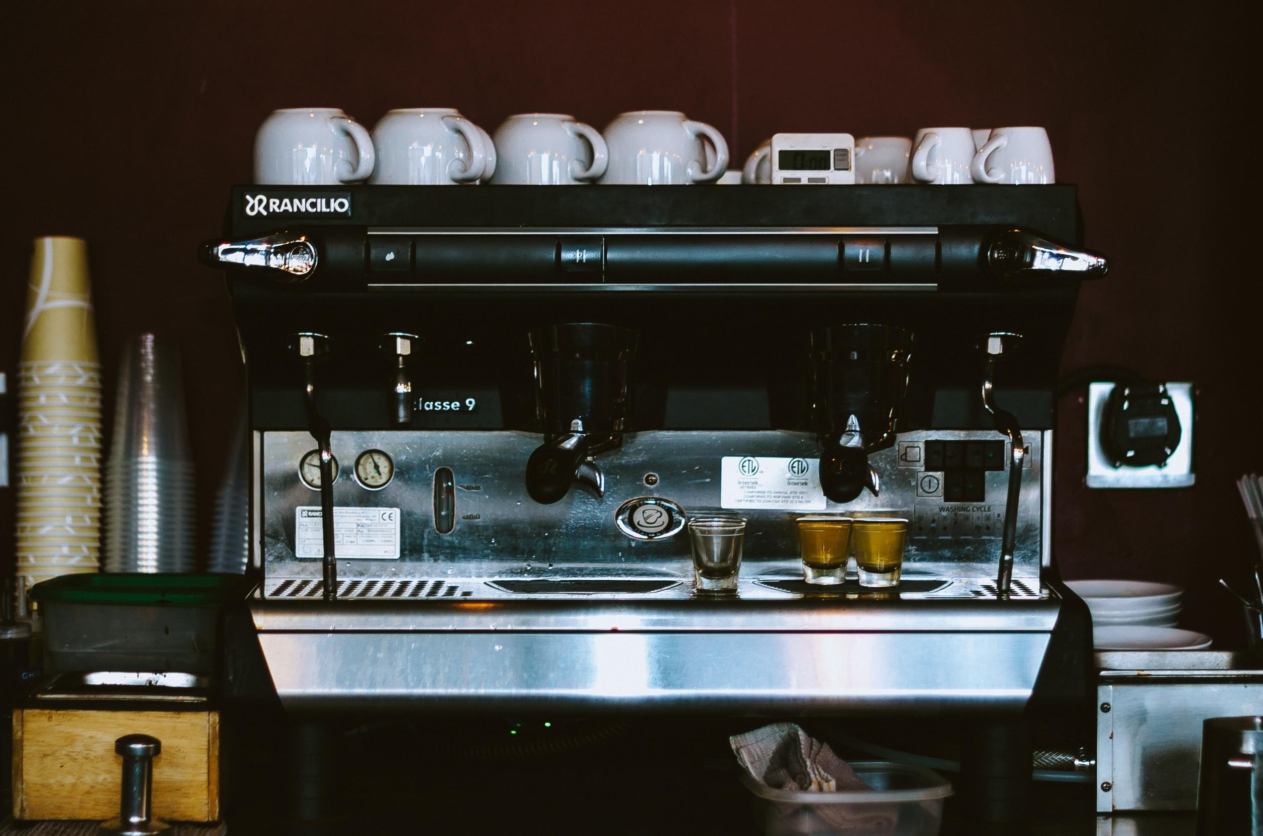 Gambar Meja Kafe Kopi Kaca Restoran Bar Peralatan Dapur