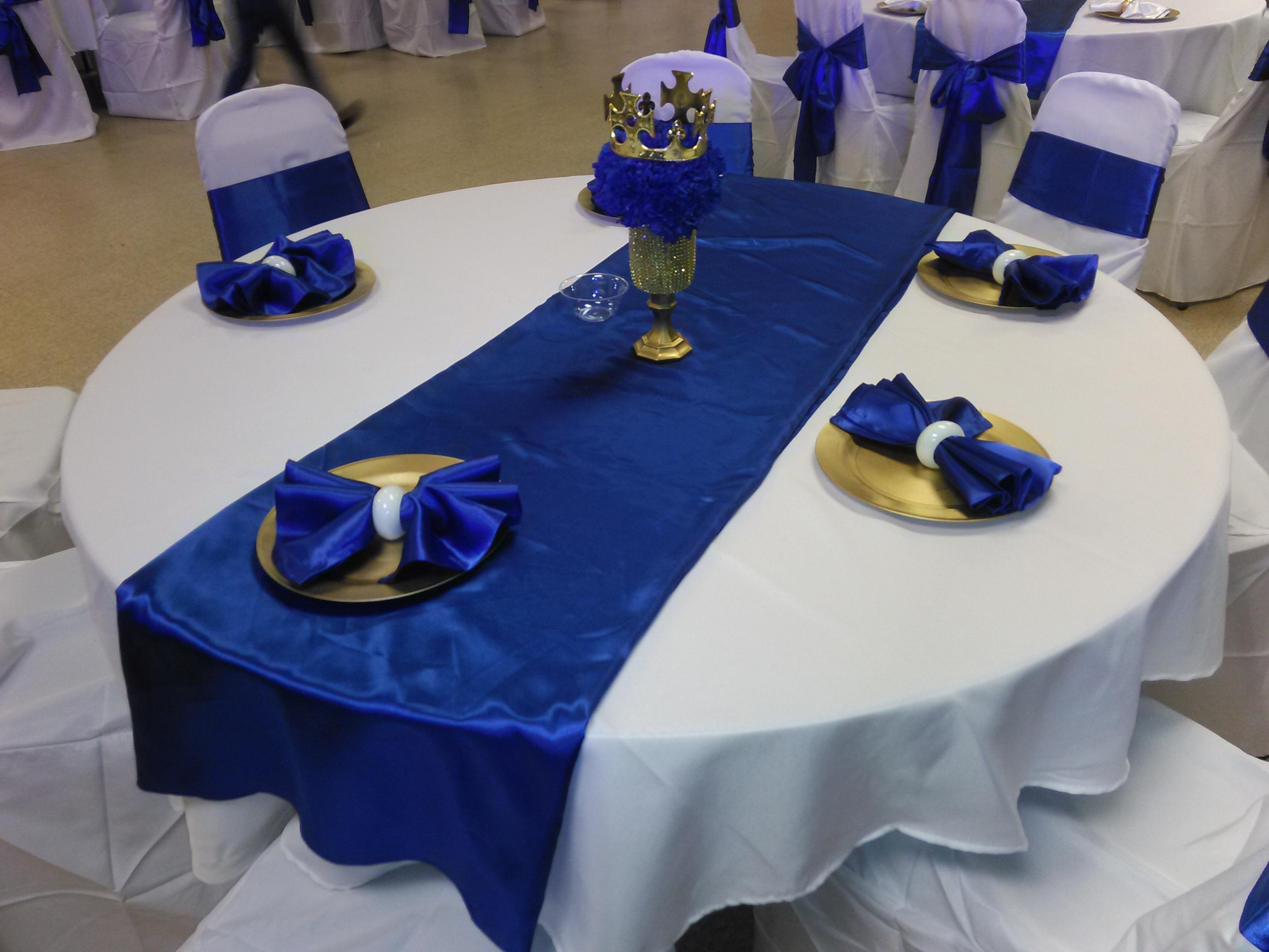 Images gratuites f te d coration repas assiette bleu mariage d cor nappe de table - Decoration table de fete ...