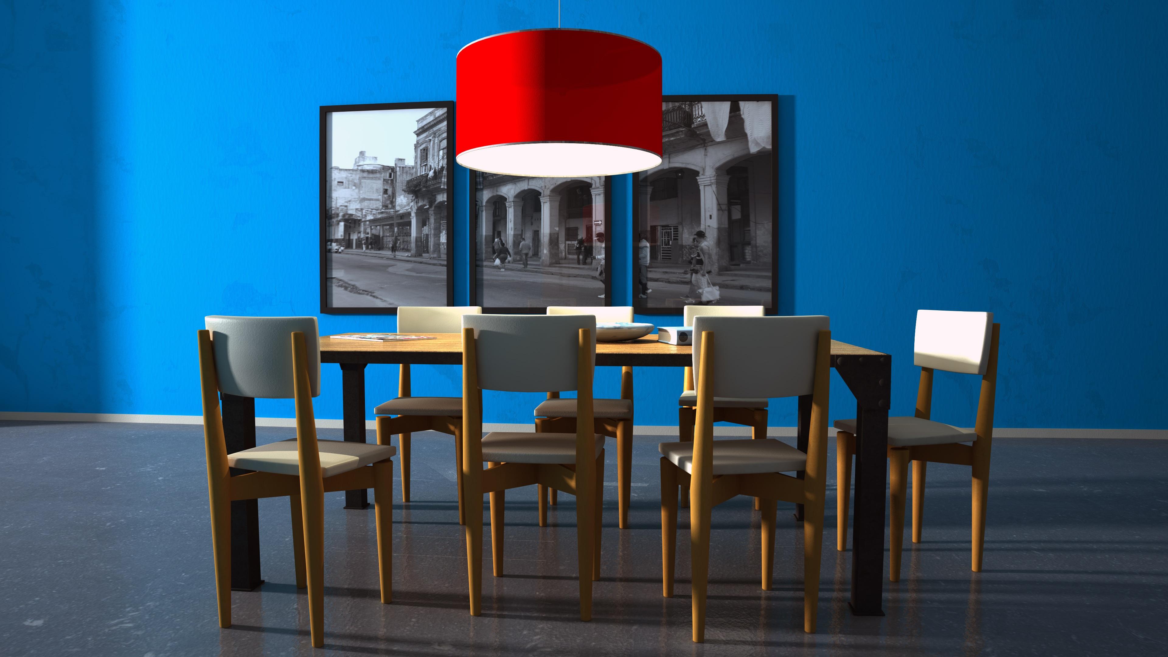 Images Gratuites Table Chaise Bleu Meubles Chambre Colore