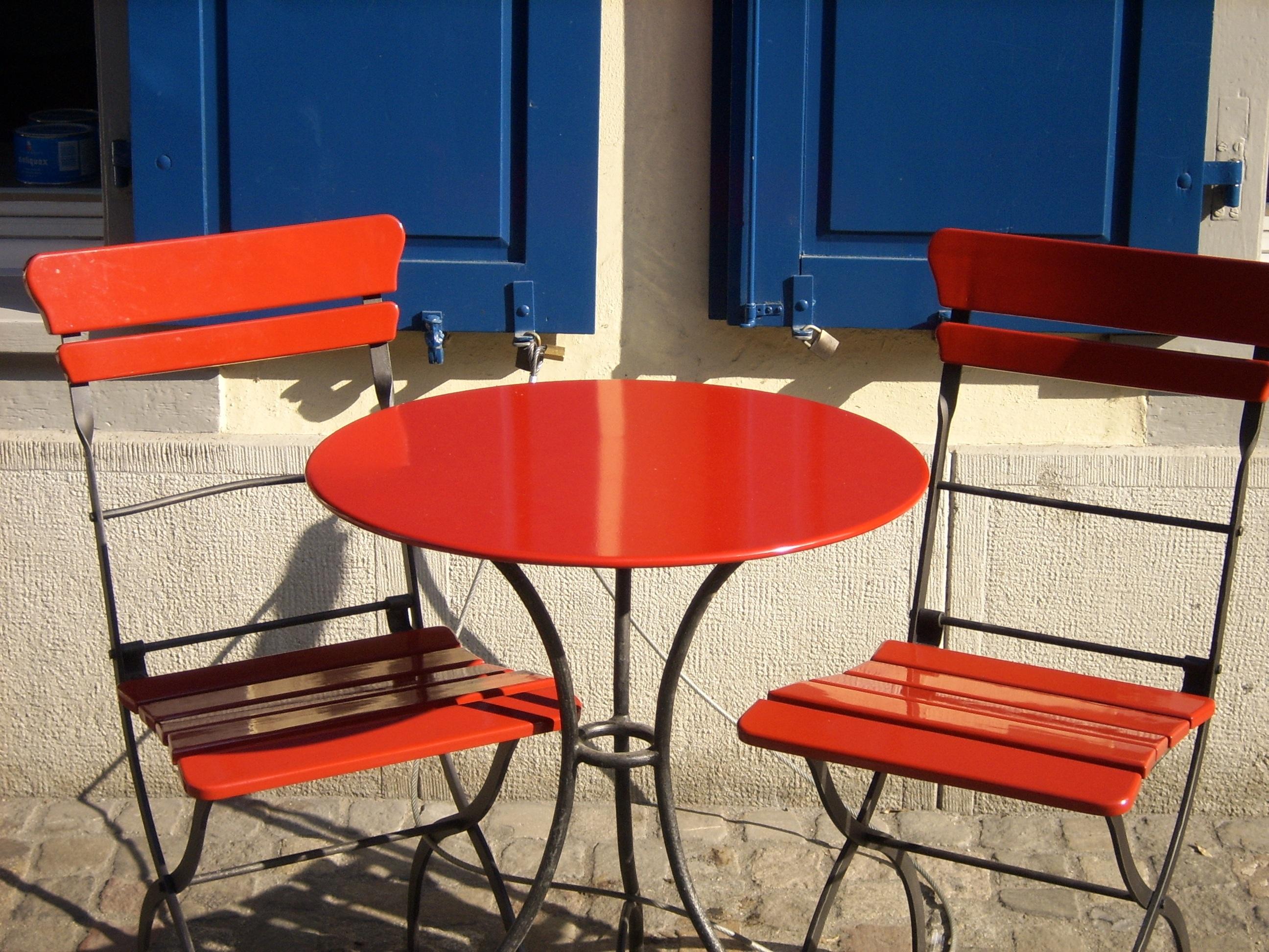 chaise jardin couleur