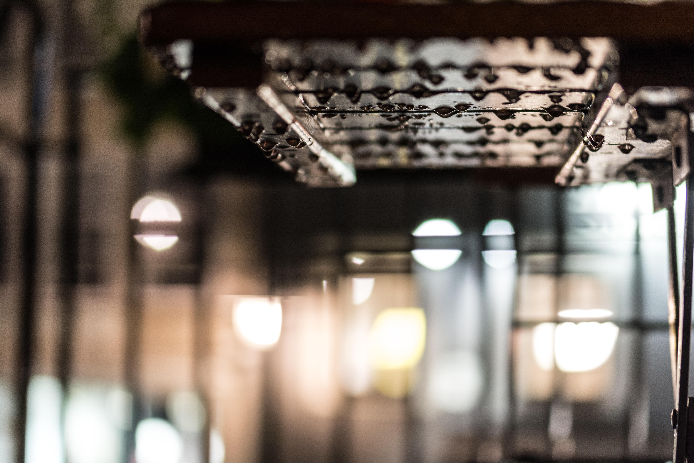 table light bokeh white night glass restaurant city reflection surface tension black lighting interior design raindrops & Free Images : table light bokeh white night glass restaurant ...