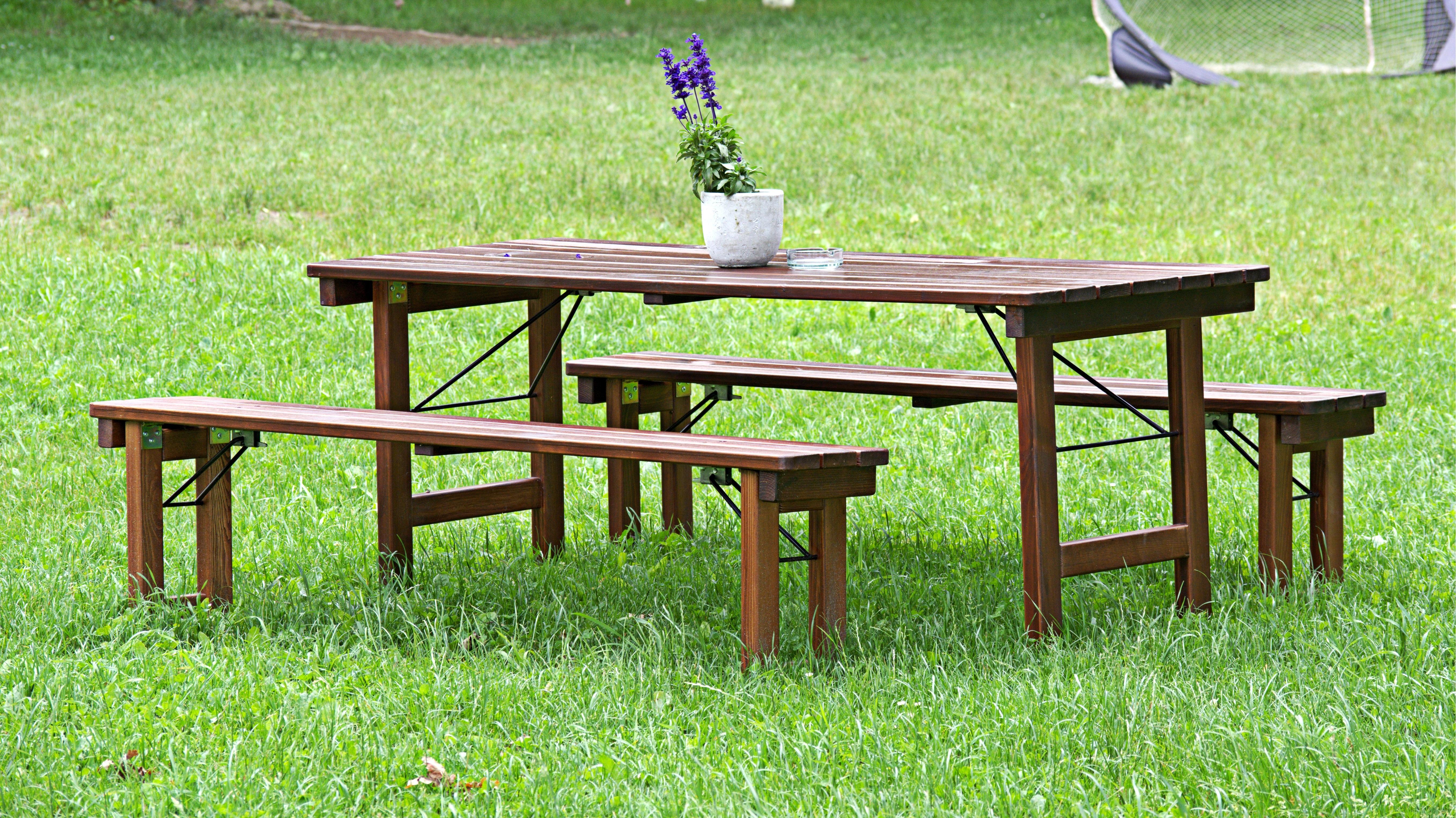 Tabelle Natur Holz Bank Sessel Sitz Rustikal Entspannen Sie Sich Sich  Ausruhen Set Möbel Holzbank Bank