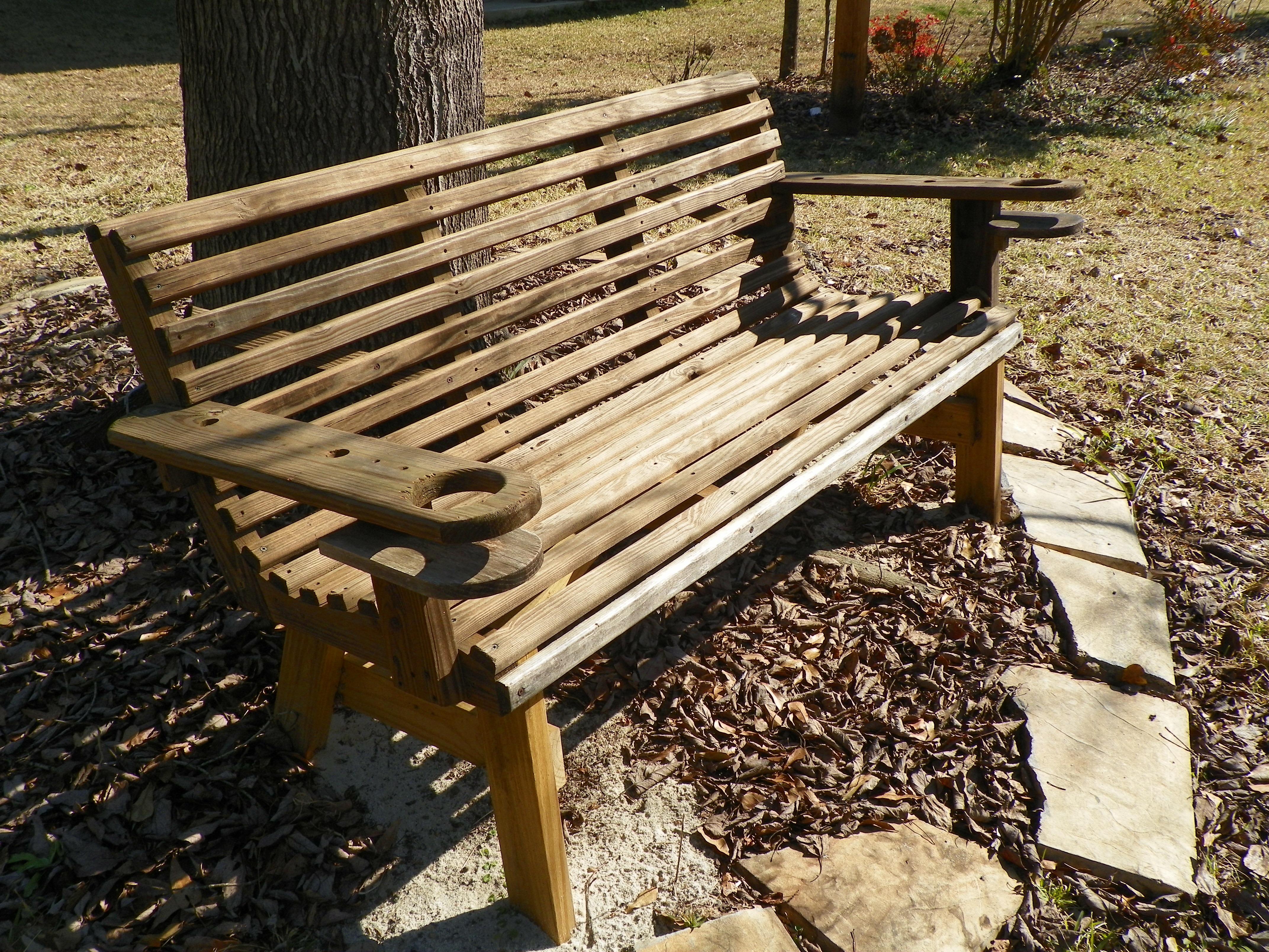 Tabelle Draussen Holz Bank Entspannen Sie Sich Sitzung Park Hinterhof Sich  Ausruhen Möbel Entspannung Hölzern Ruhen