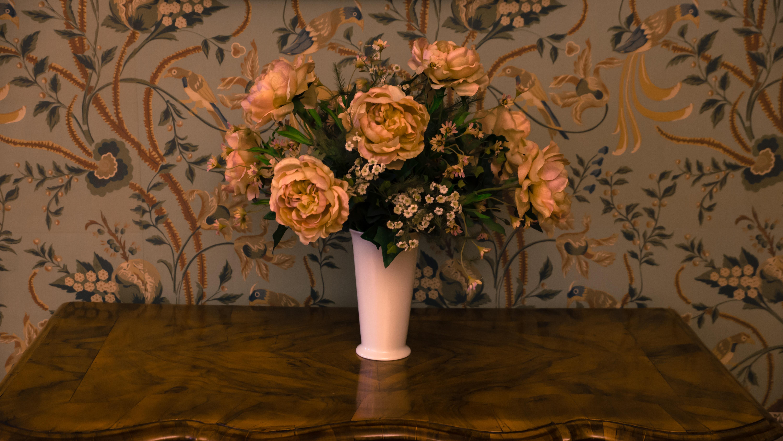 Fotoğraf Tablo Bitki Demet çiçek Buket Vazo Dekorasyon Sarı