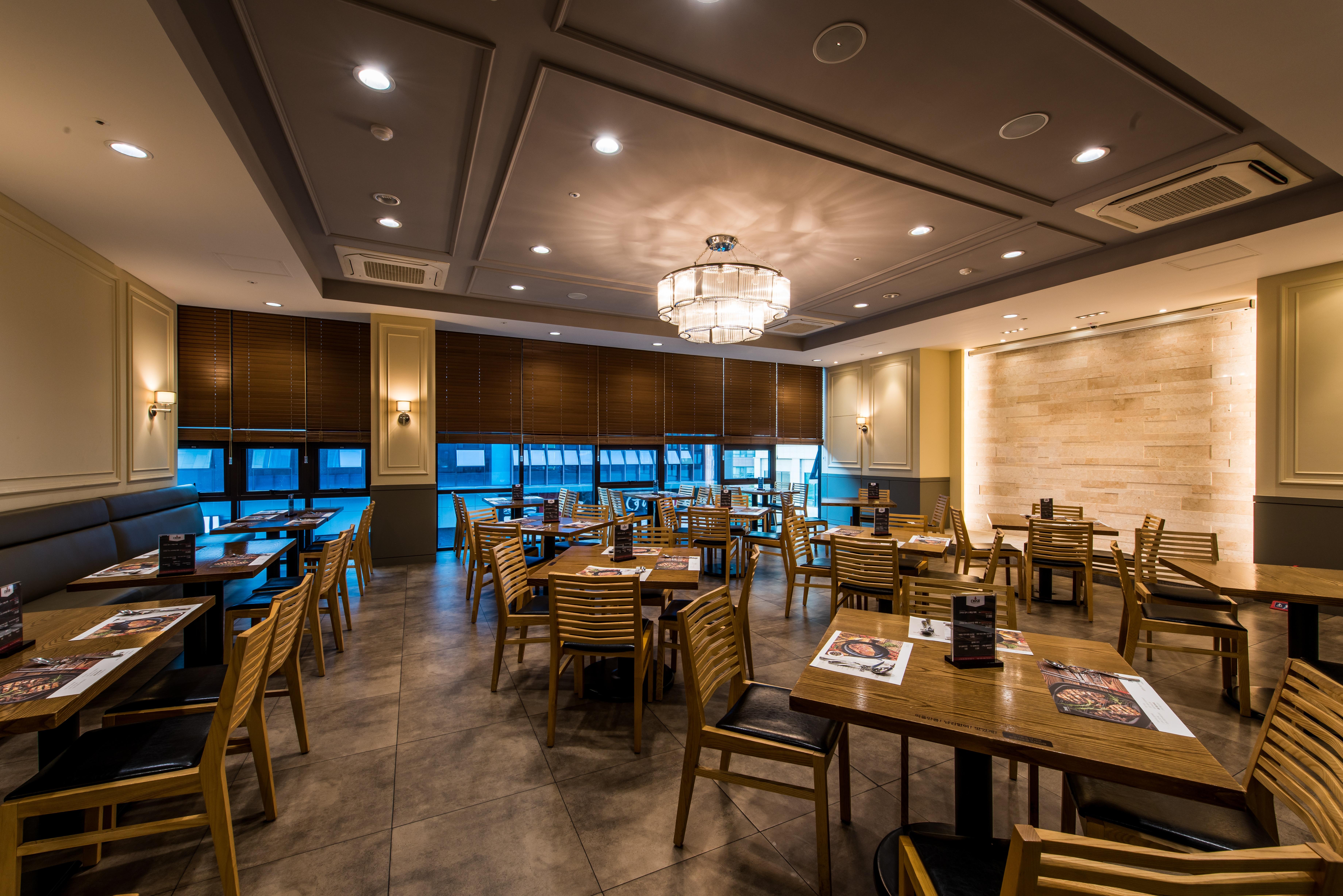 รูปภาพ ตาราง ร้านอาหาร บุฟเฟ่ต์ การออกแบบตกแต่งภายใน