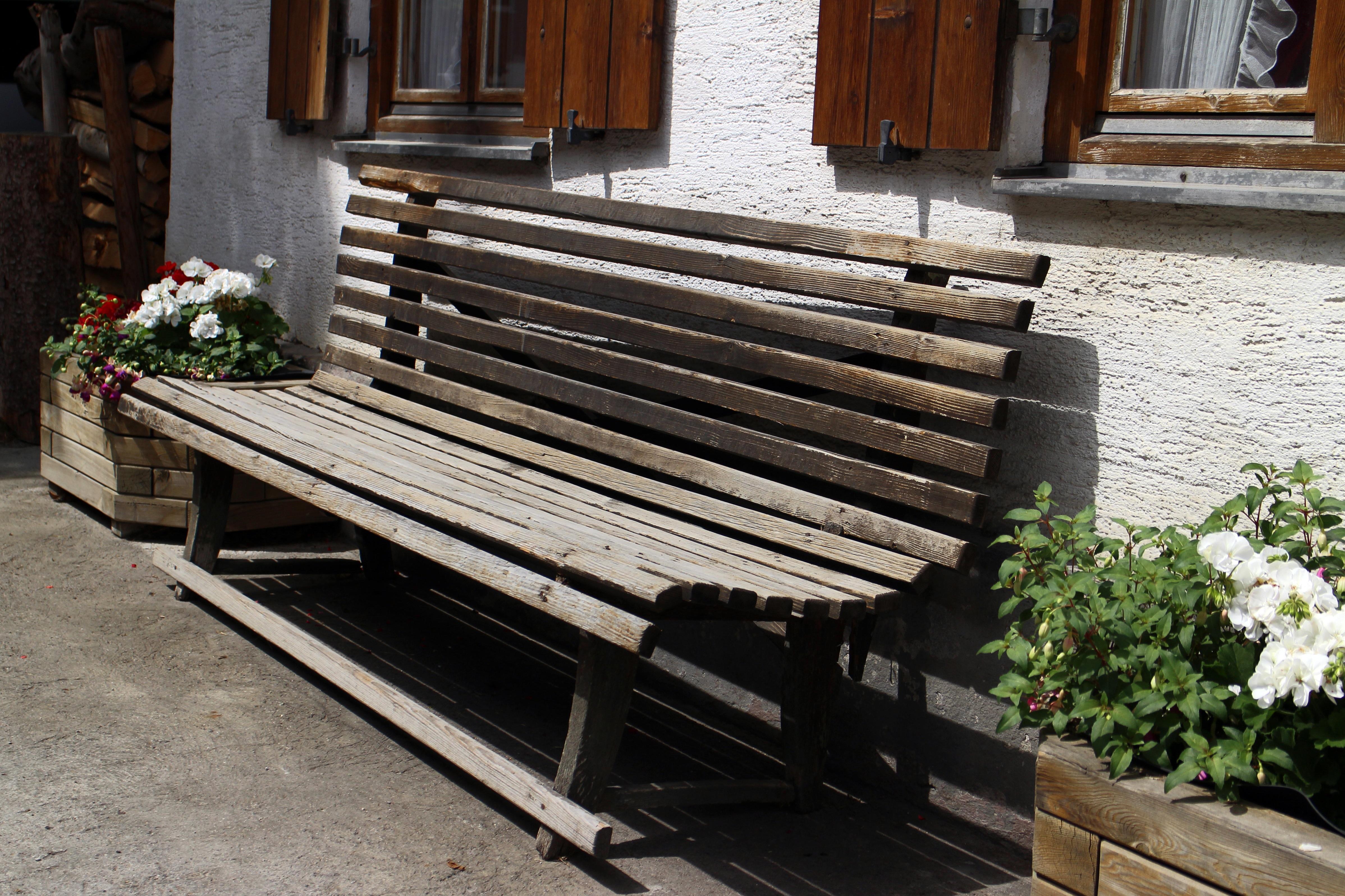 무료 이미지 : 표, 목재, 현관, 가구, 정원, 앉다, 나무 벤치, 은행 ...