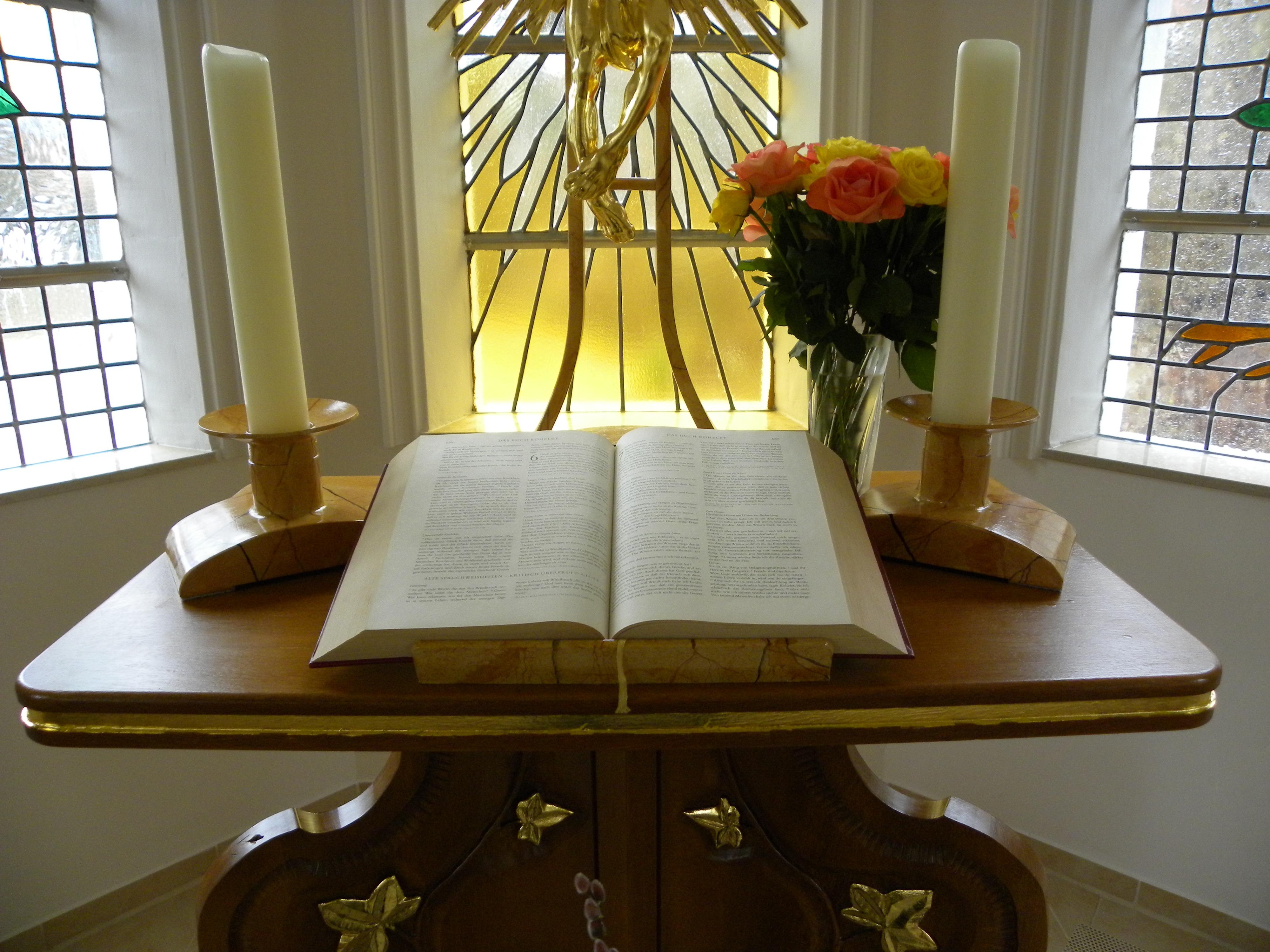 Table Wood Home Religion Church Chapel Furniture Room Christian Bible Pray Interior Design Art Altar Faith