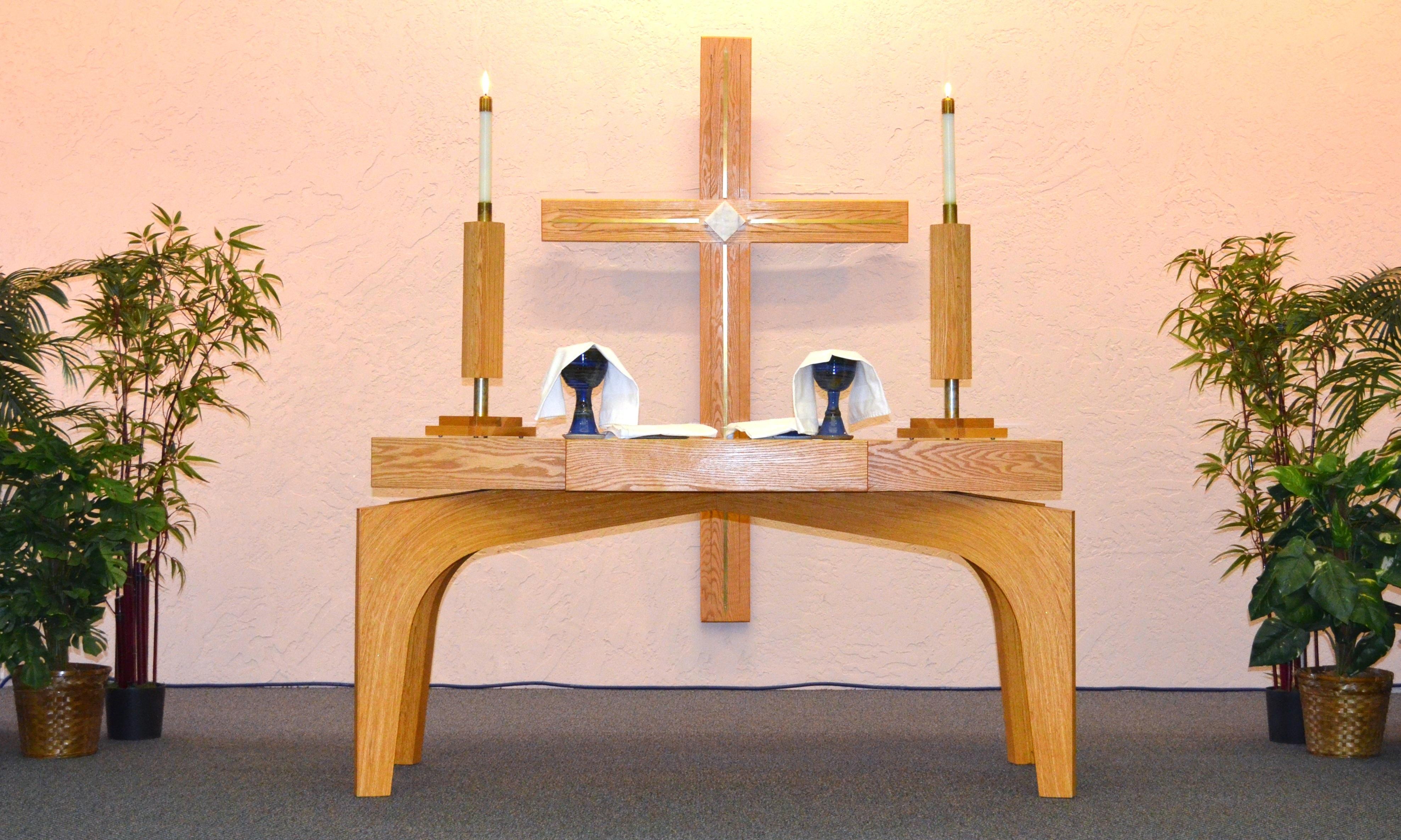 Table Wood Love Symbol Religion Church Cross Furniture Christian Spiritual  Pray Religious Christ Candles Faith Hope