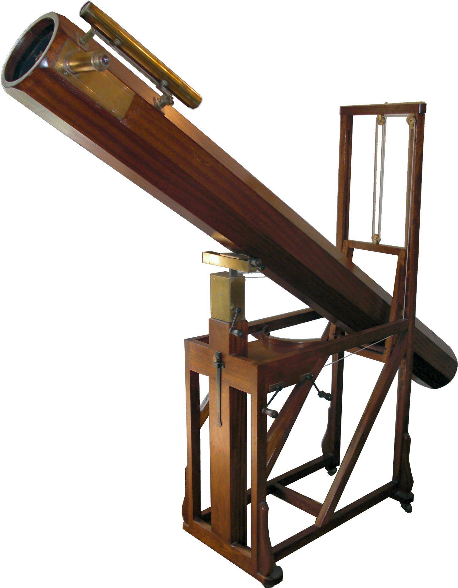 table wood telescope shelf furniture lighting product astronomy observation man made object william herschel herschel telescope