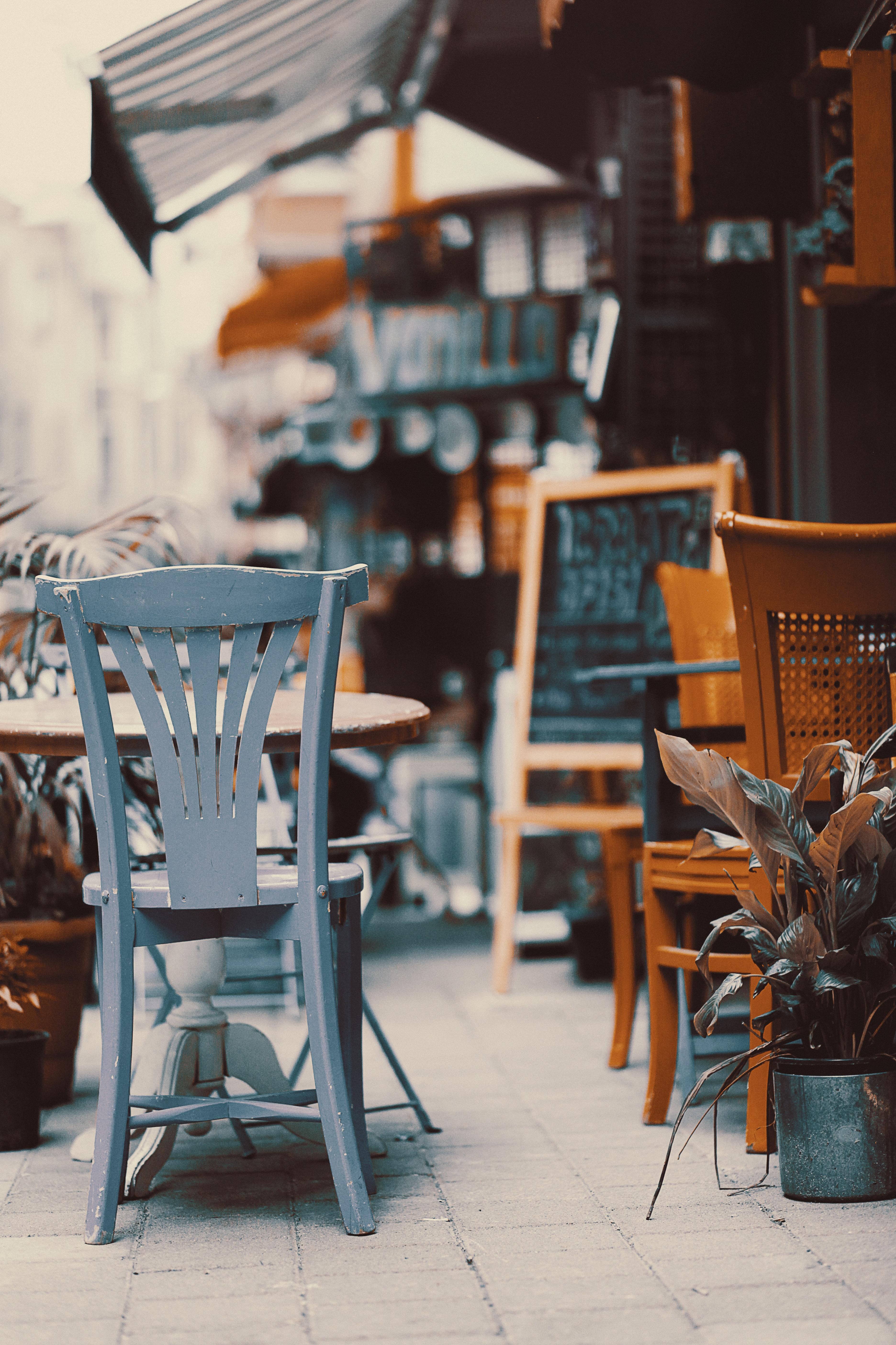 Gambar Meja Kayu Vintage Retro Kursi Restoran Tua Rumah