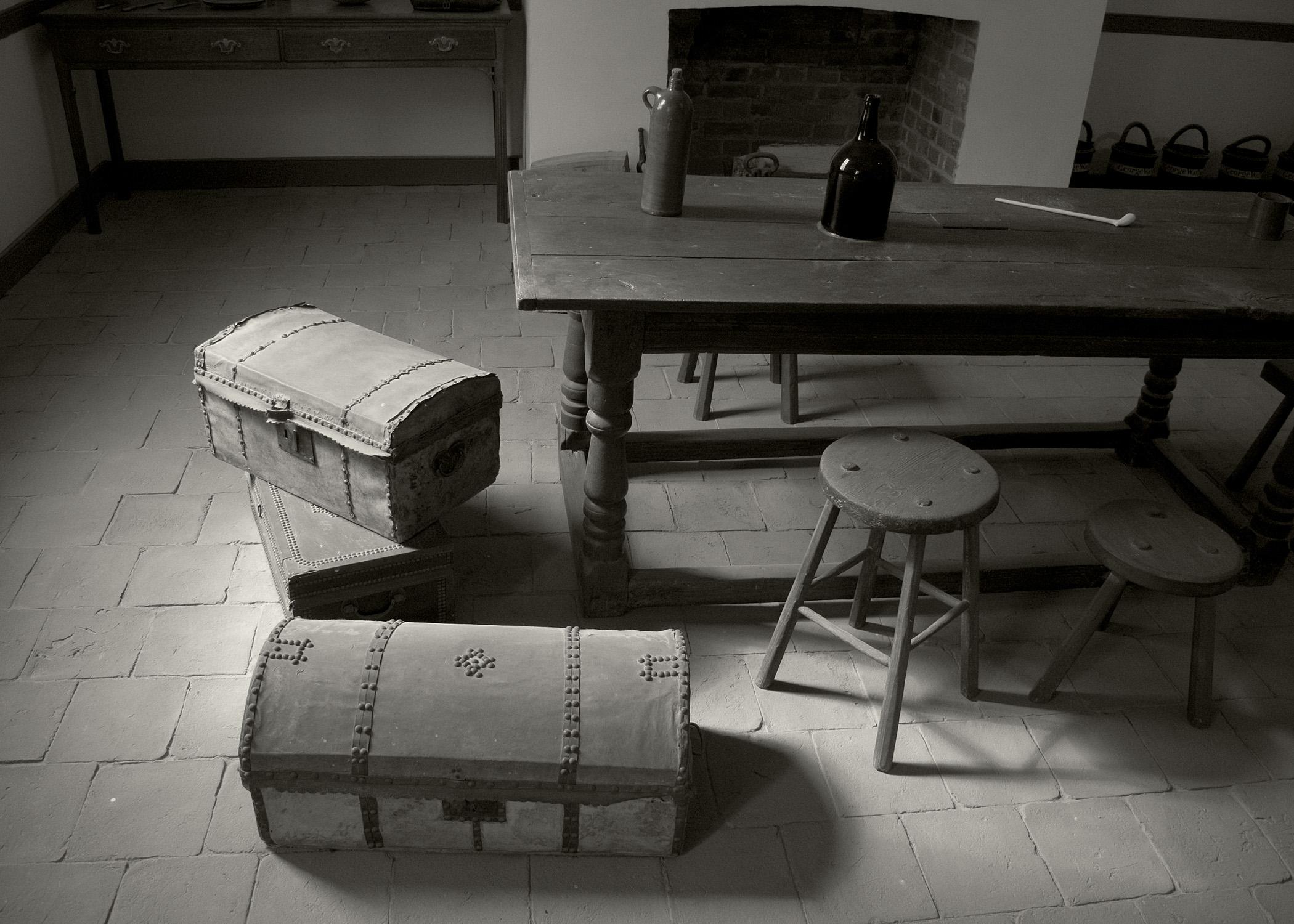Table Wood White Floor Furniture Room Monochrome Interior Design History Historical