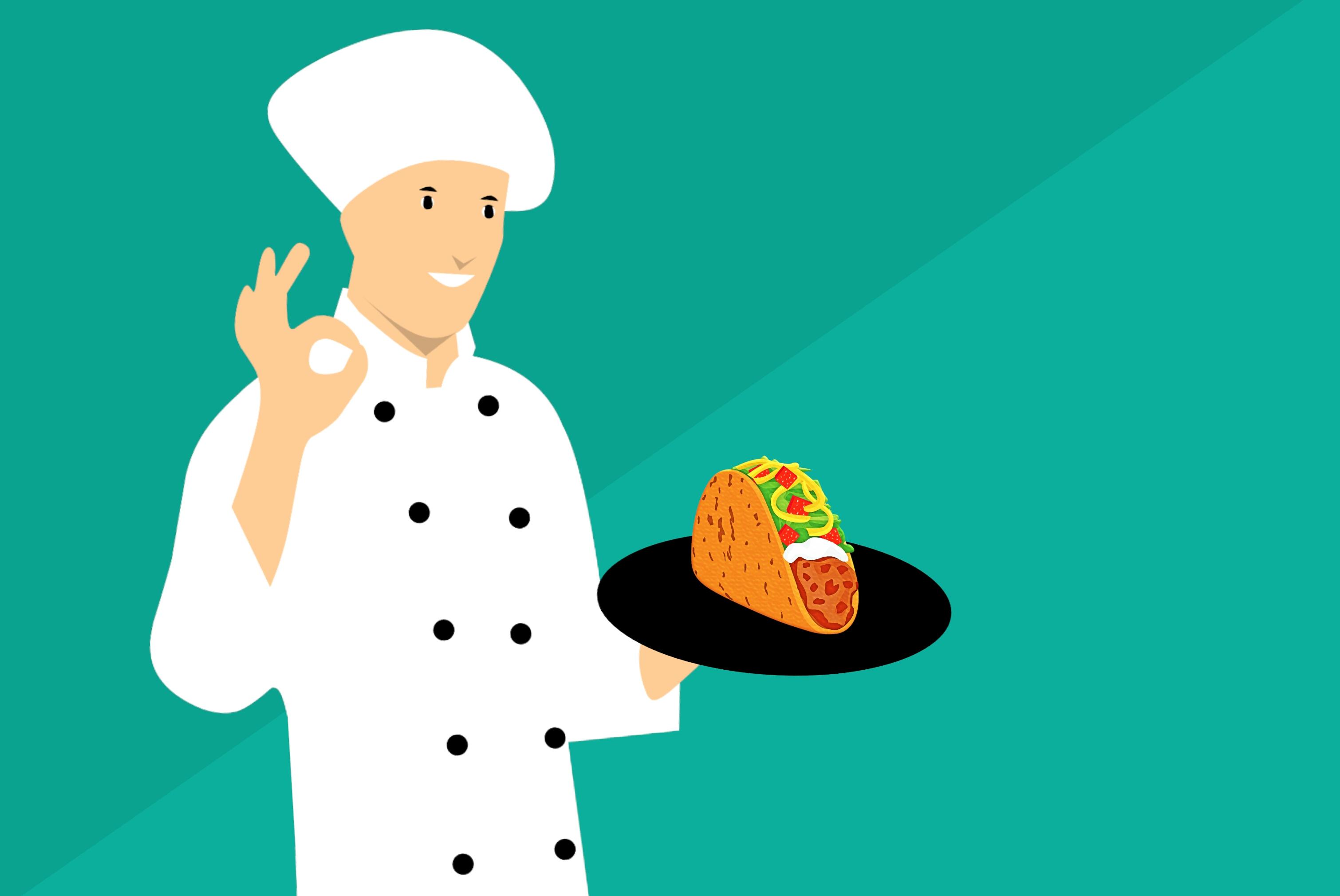 Gambar Taco Koki Gambar Kartun Dapur Meksiko Sombrero