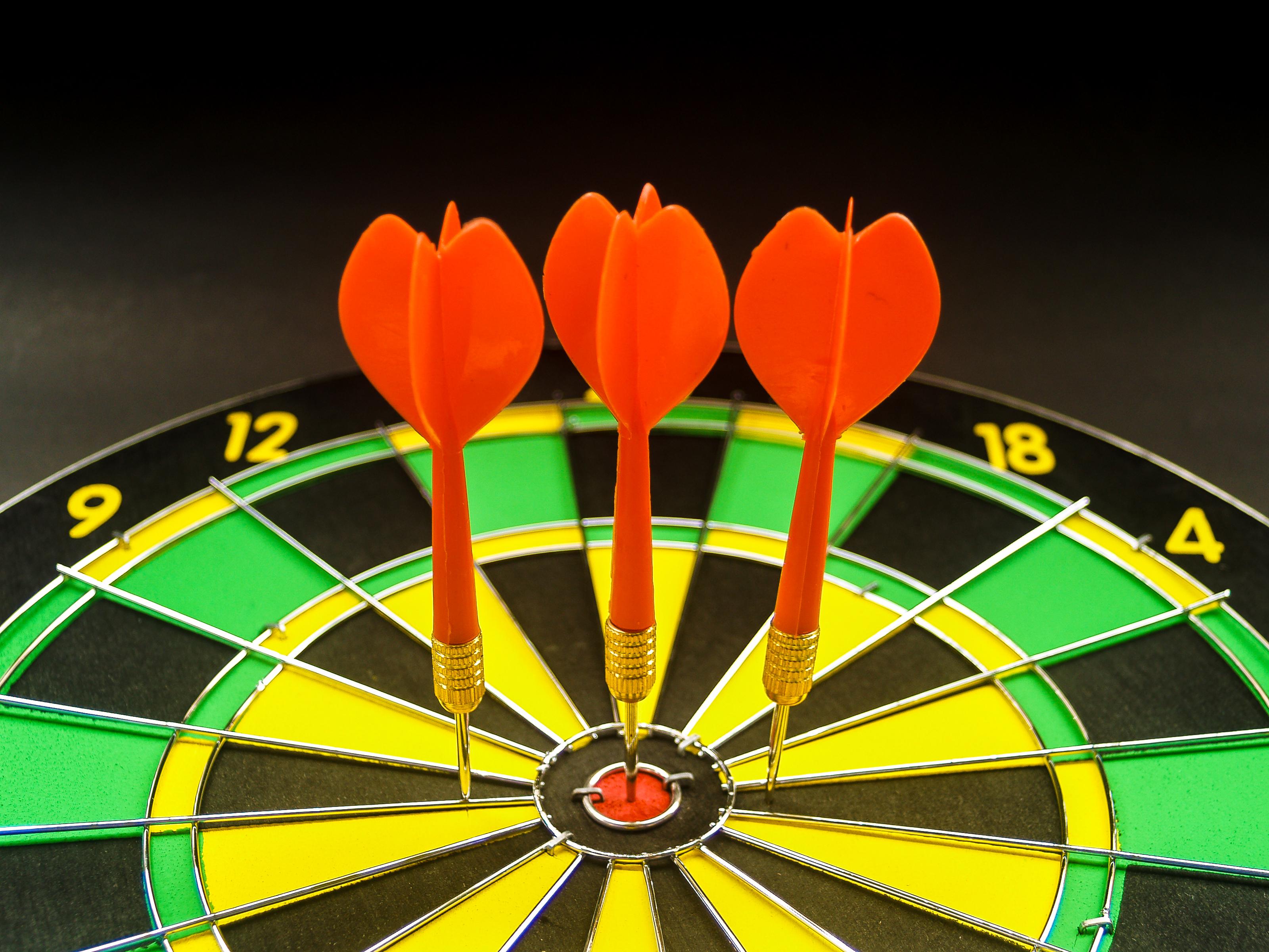 Gambar Target Papan Panah Naik Anak Panah Pusat Kompetisi