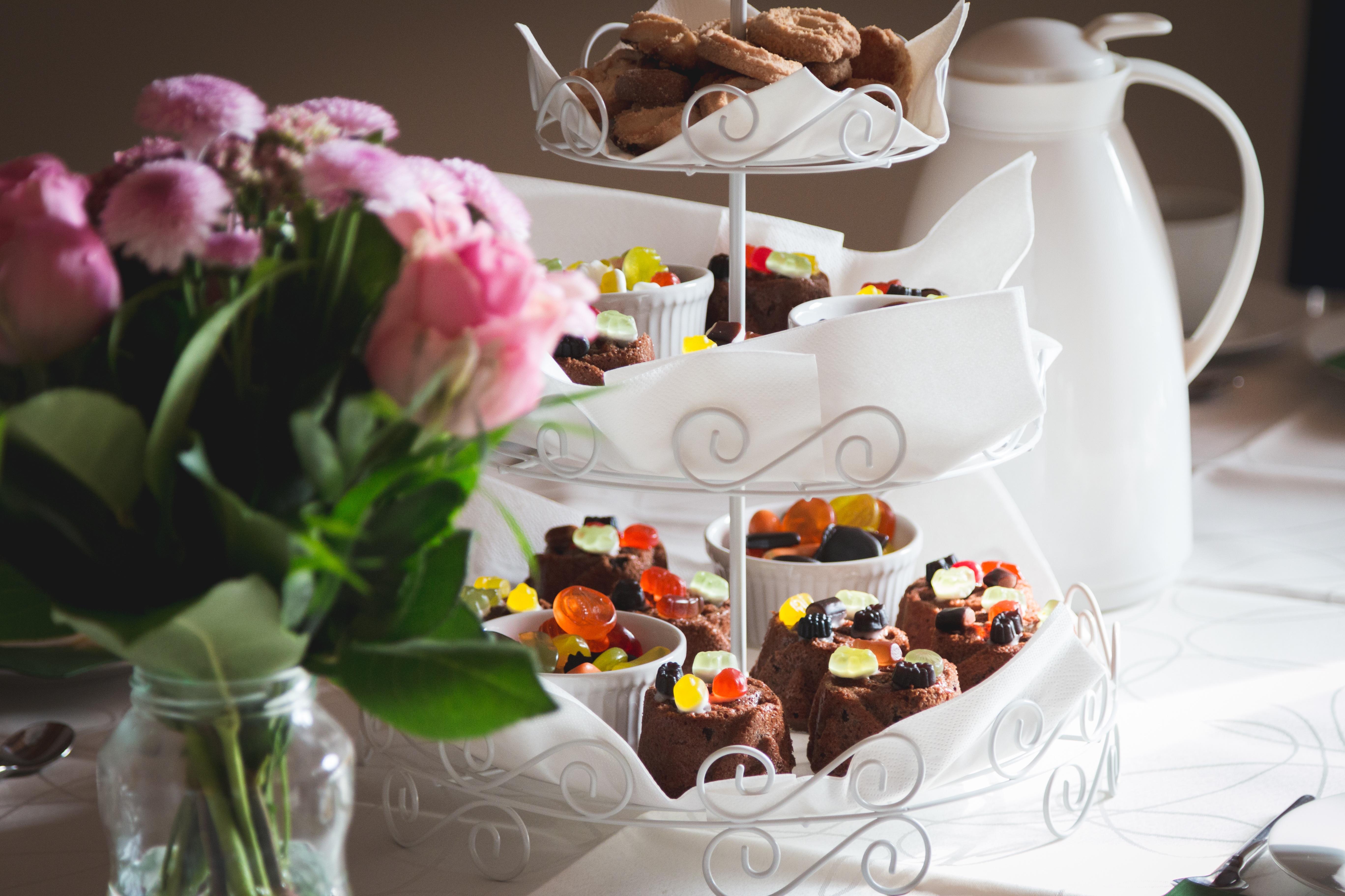 Free Images : tea, meal, food, biscuit, dessert, party, floristry ...