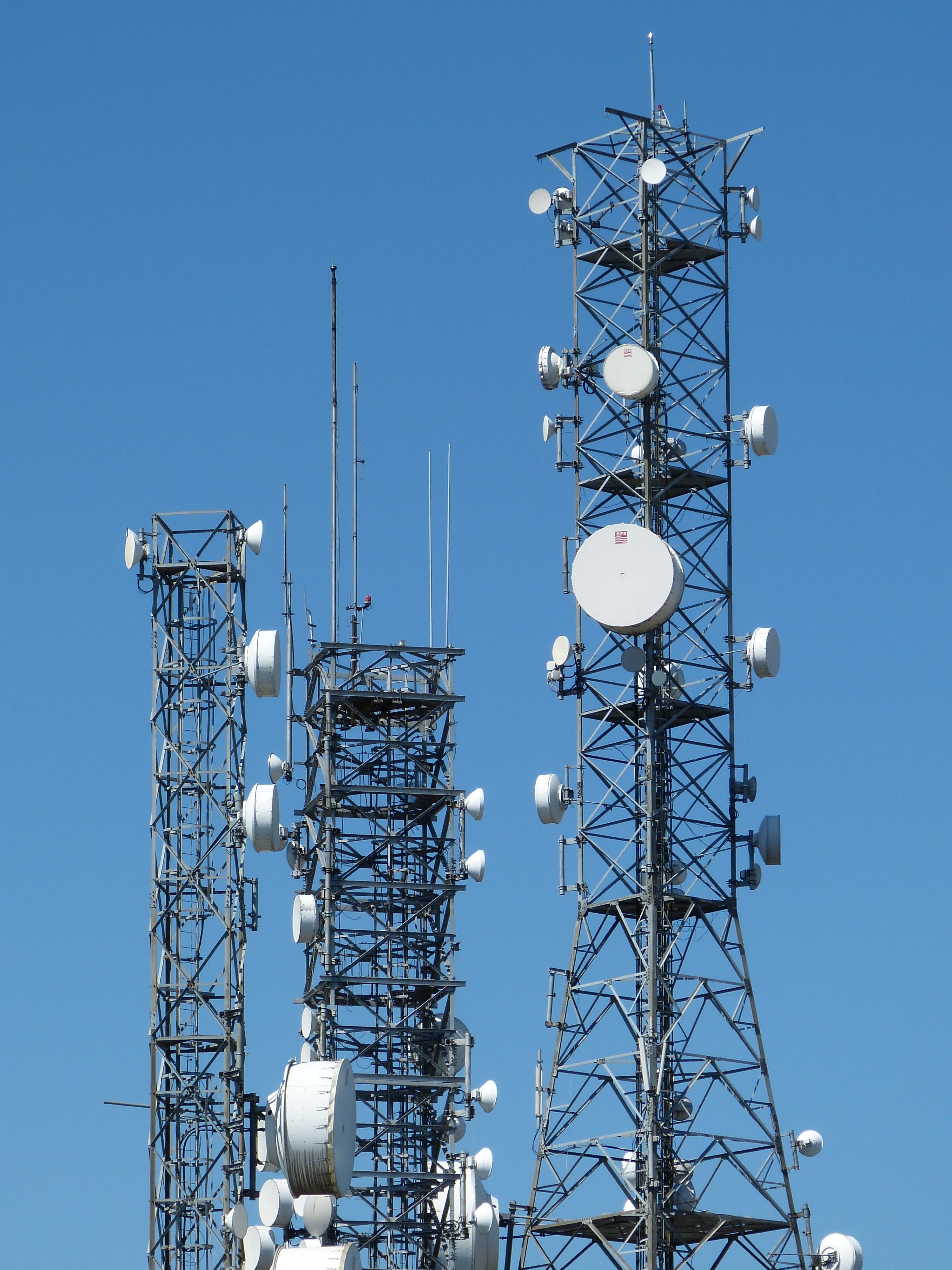 Free Images : technology, antenna, mast, communication, asia, blue ...