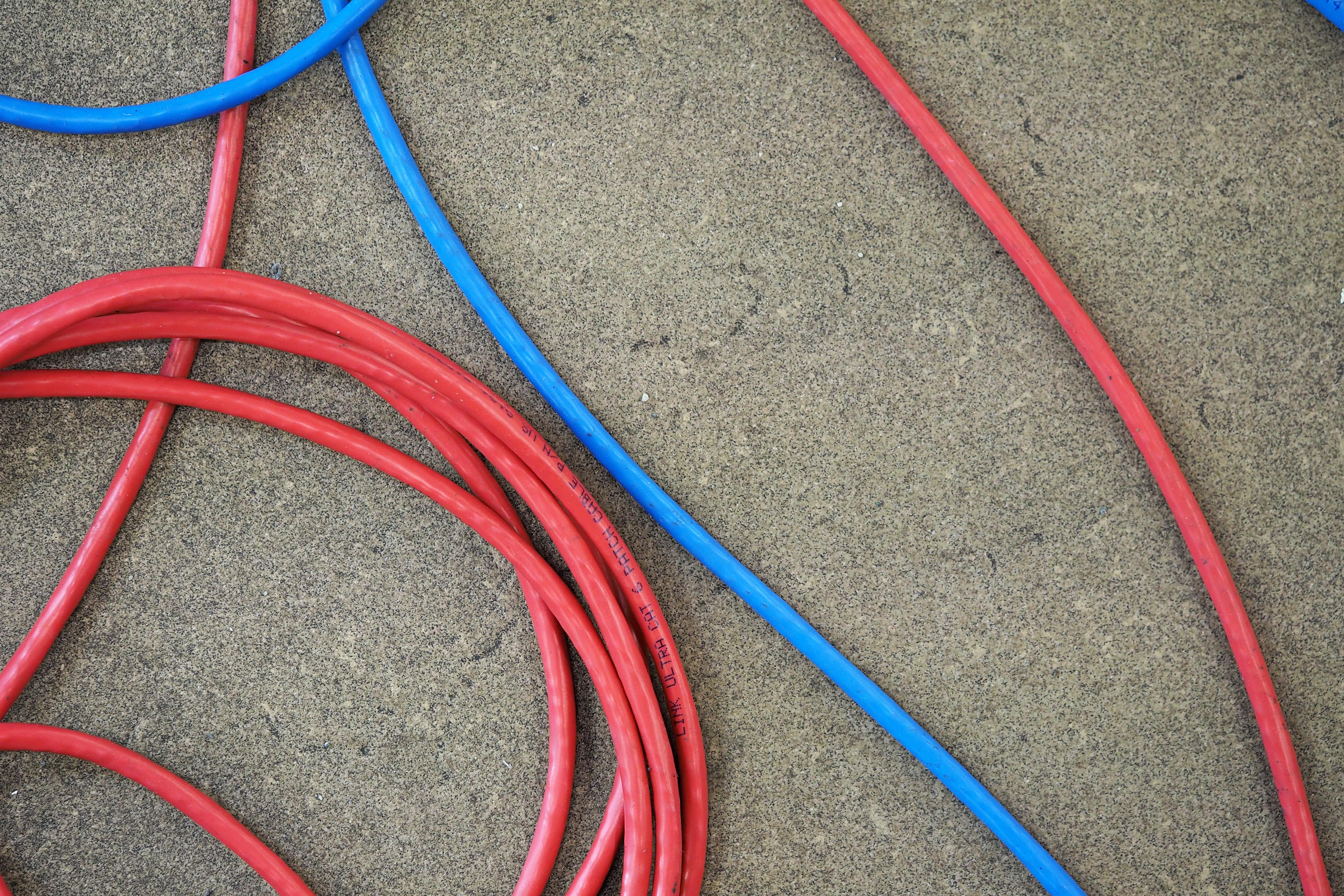 Kostenlose foto : Technologie, Boden, Kabel, Draht, Linie, rot ...