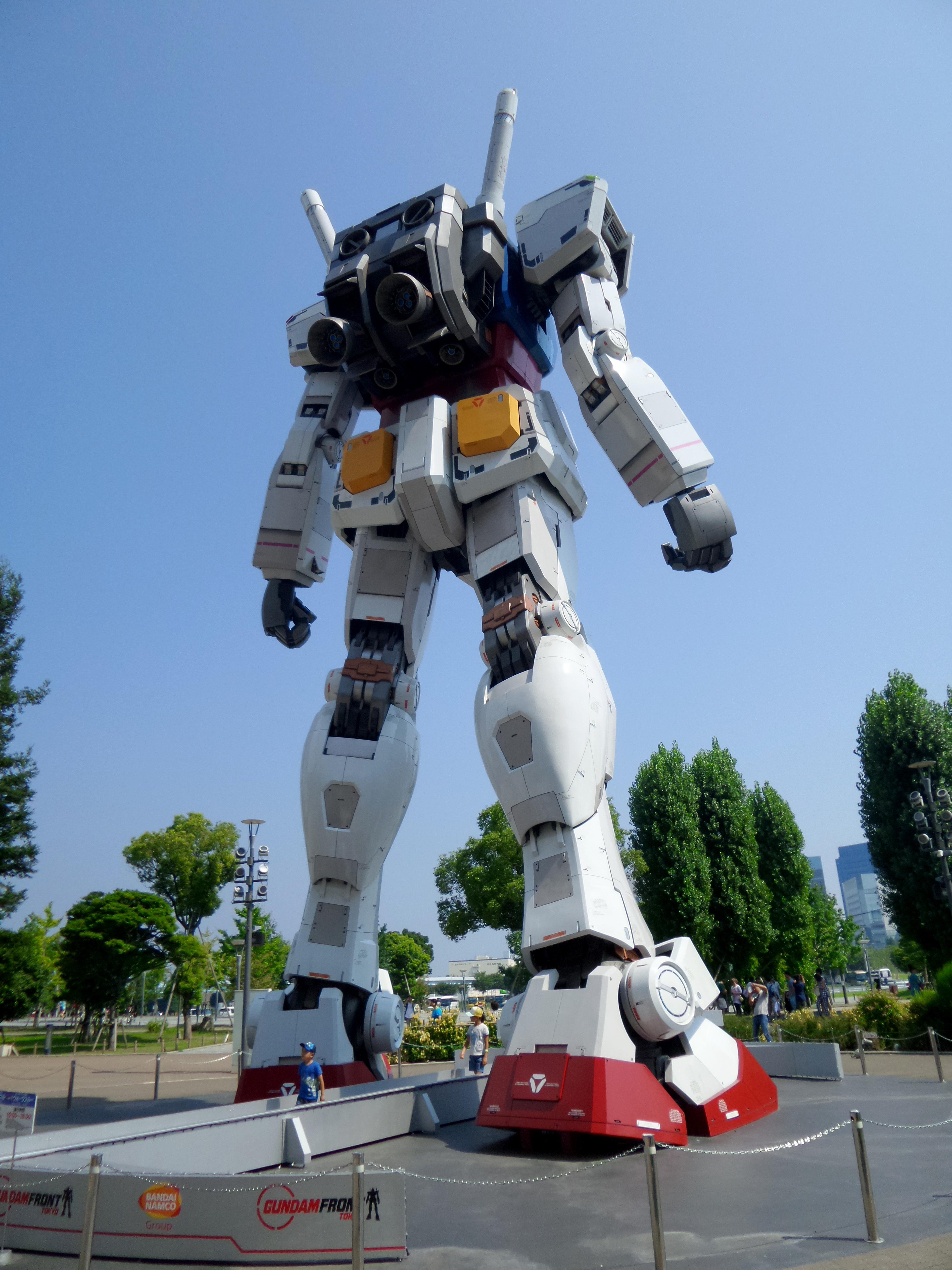 Công nghệ máy móc Đồ chơi Điêu khắc Tokyo Robot trước mặt Anime truyện Gundam Daiba