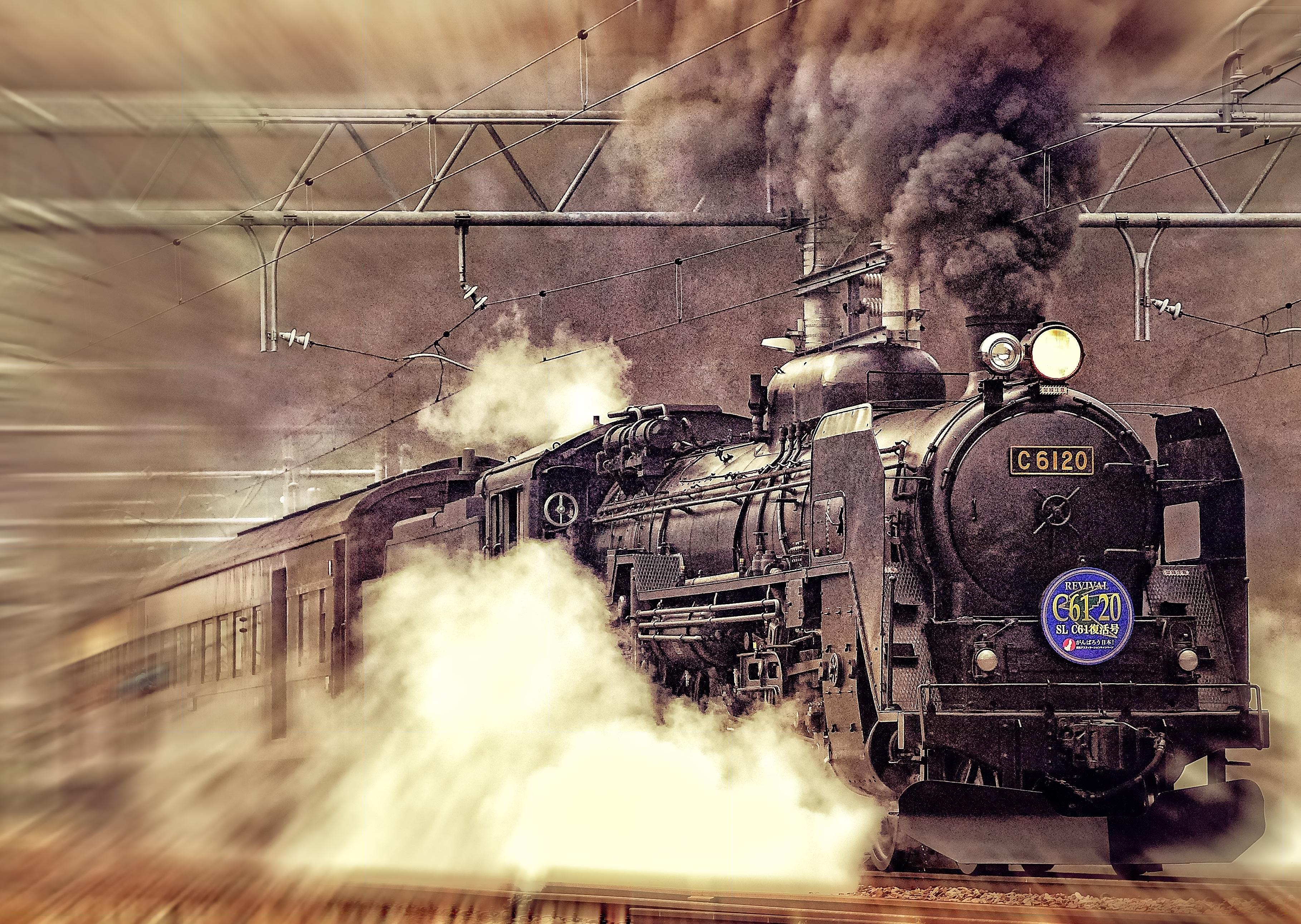 Издательства, картинка с локомотивом