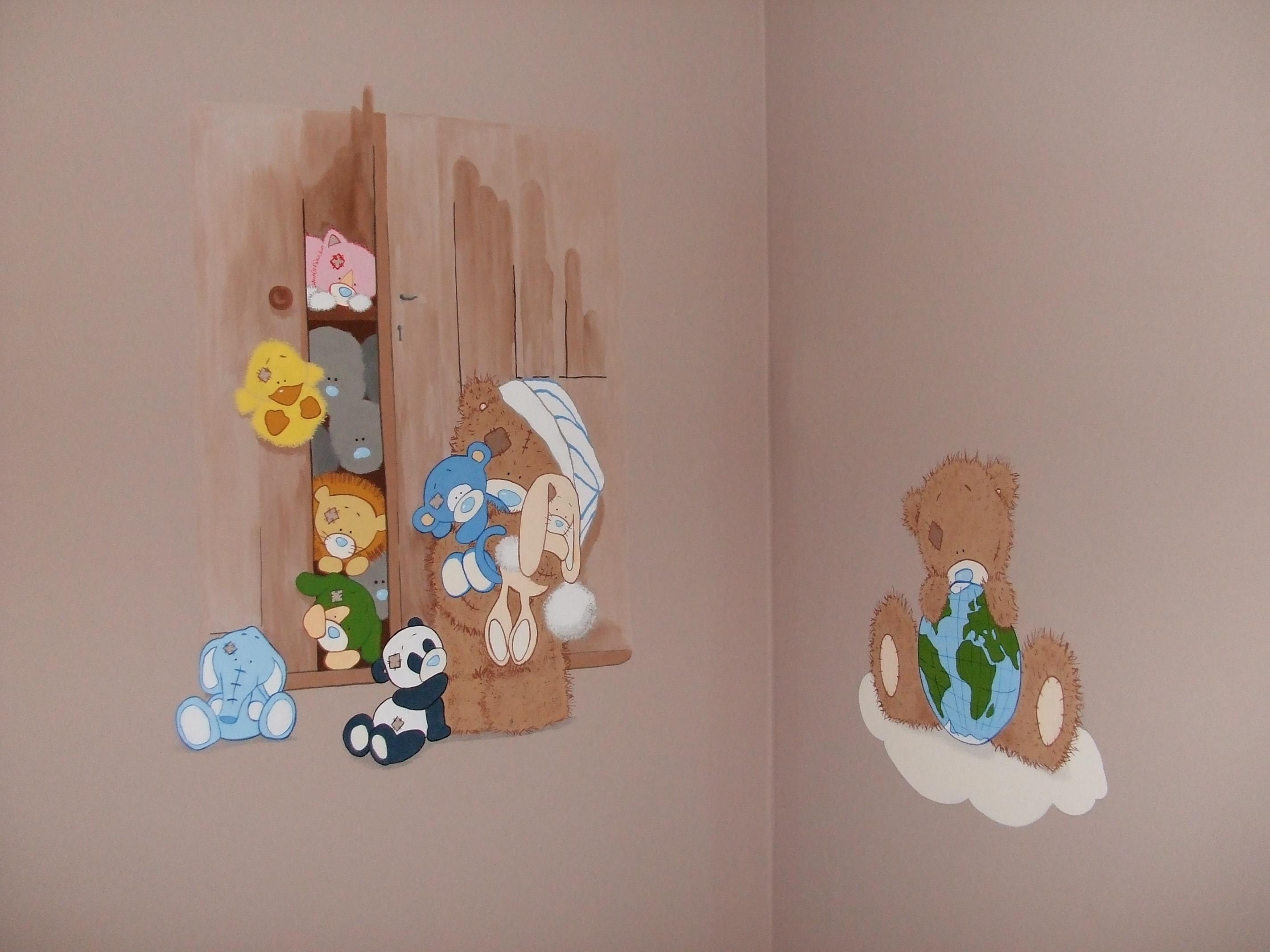 Fotoğraf Oyuncak Ayı Sanat çizim Illüstrasyon Duvar Boyama