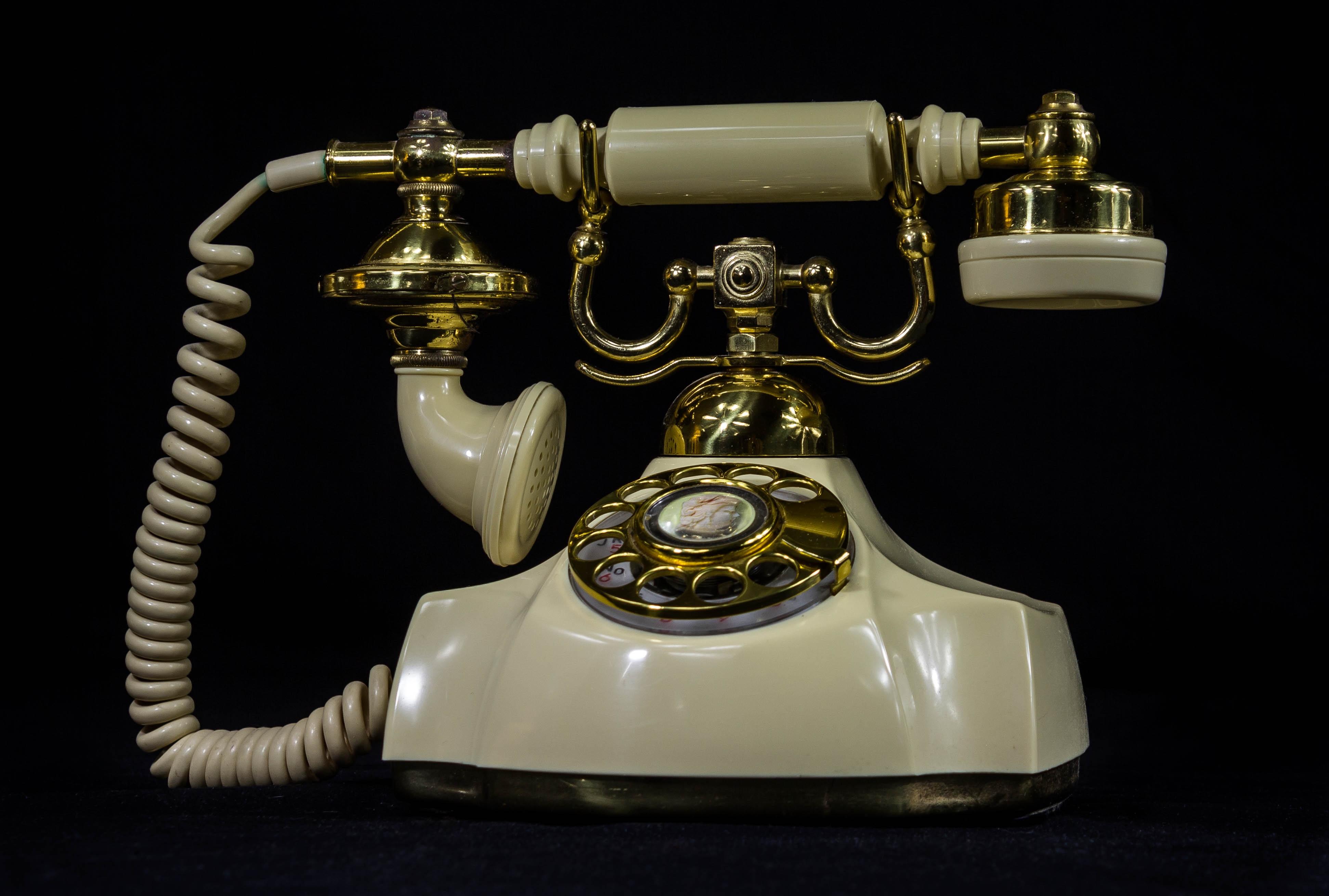 Free Images : communication, vintage telephone, old phone, rotary