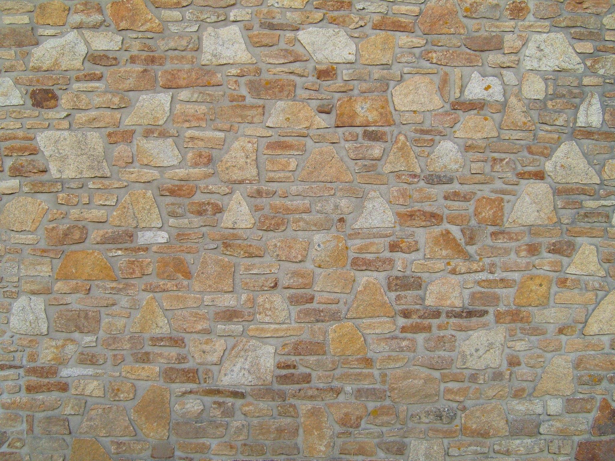 Texture Floor Wall Stone Pattern Artistic Brown Rough Exterior Stone Wall  Brick Material Textured Art Brickwork