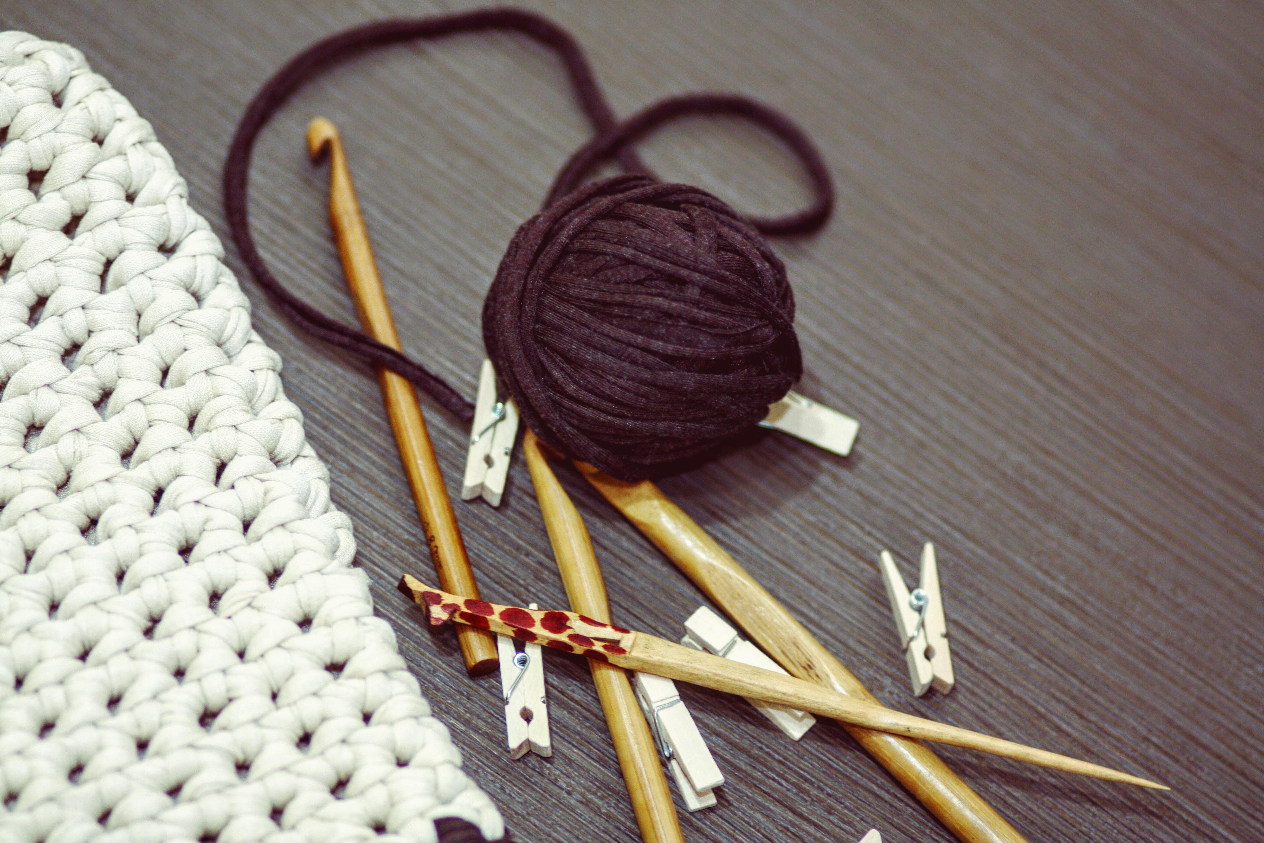 Fotos gratis : textura, patrón, arte, tejer, hilo, material, gancho ...