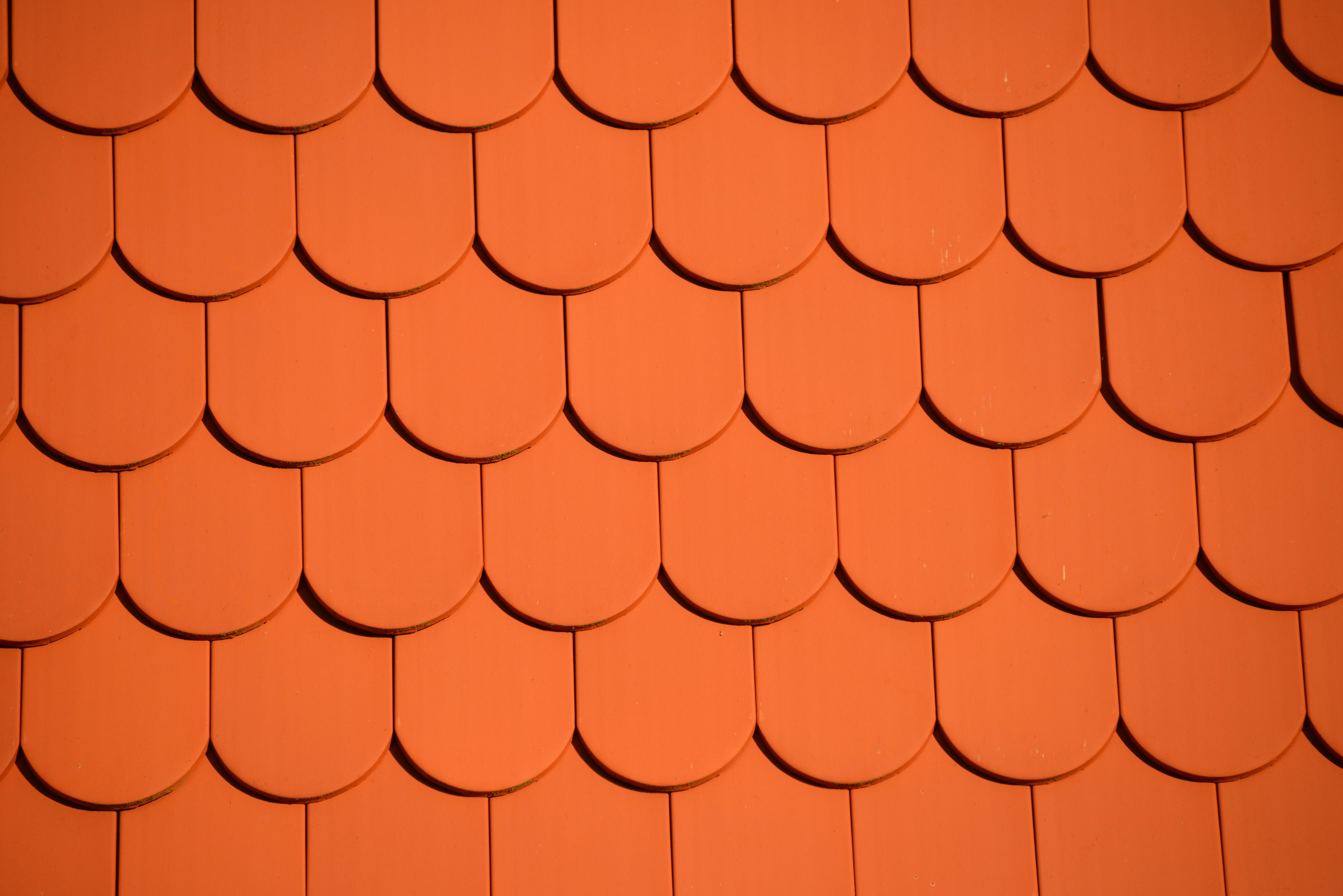 Free images texture petal floor orange pattern line for Roof tile patterns
