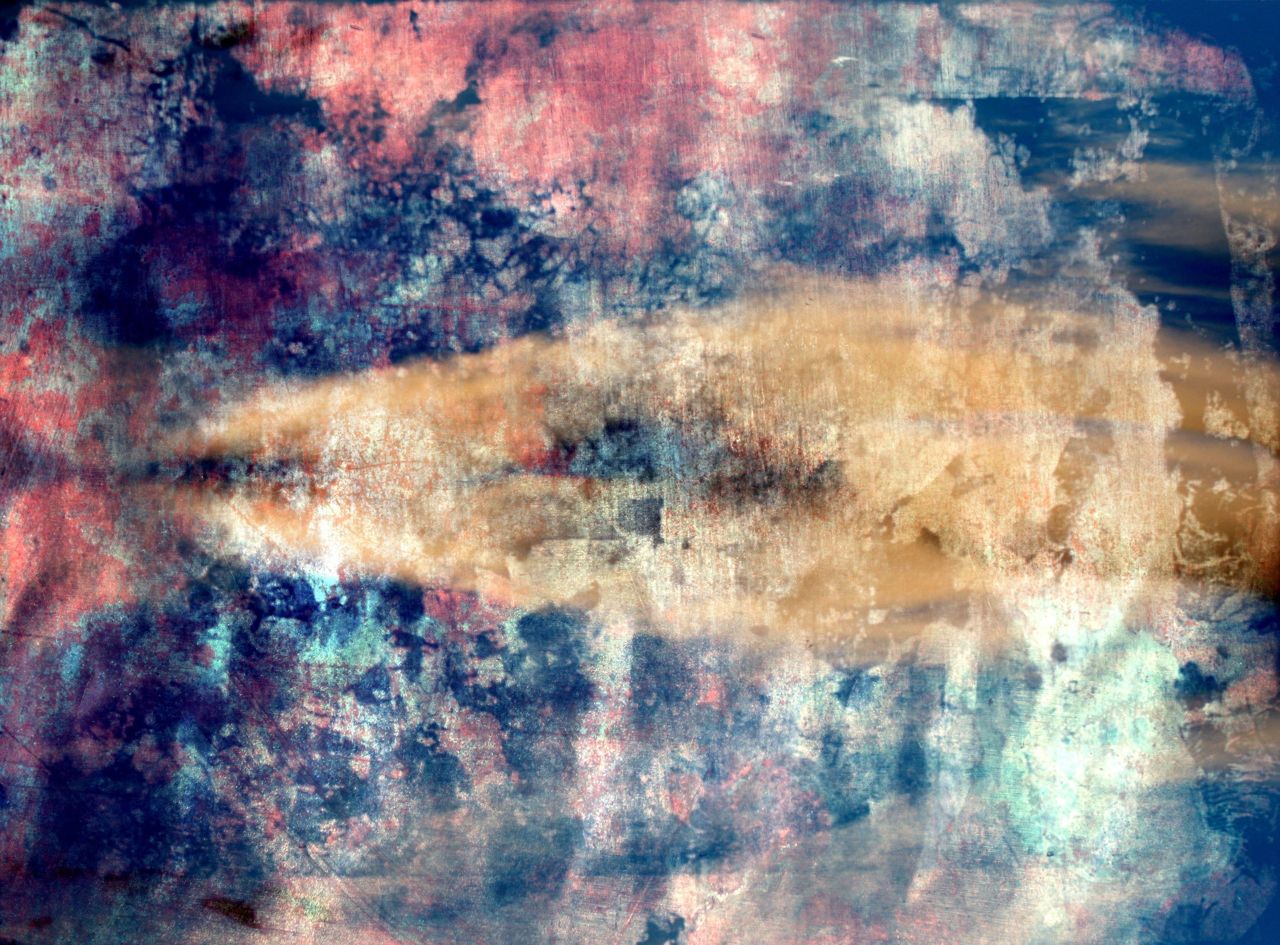 Fotoğraf Doku Yansıma Mavi Boyama Uzay ücretsiz Modern Sanat