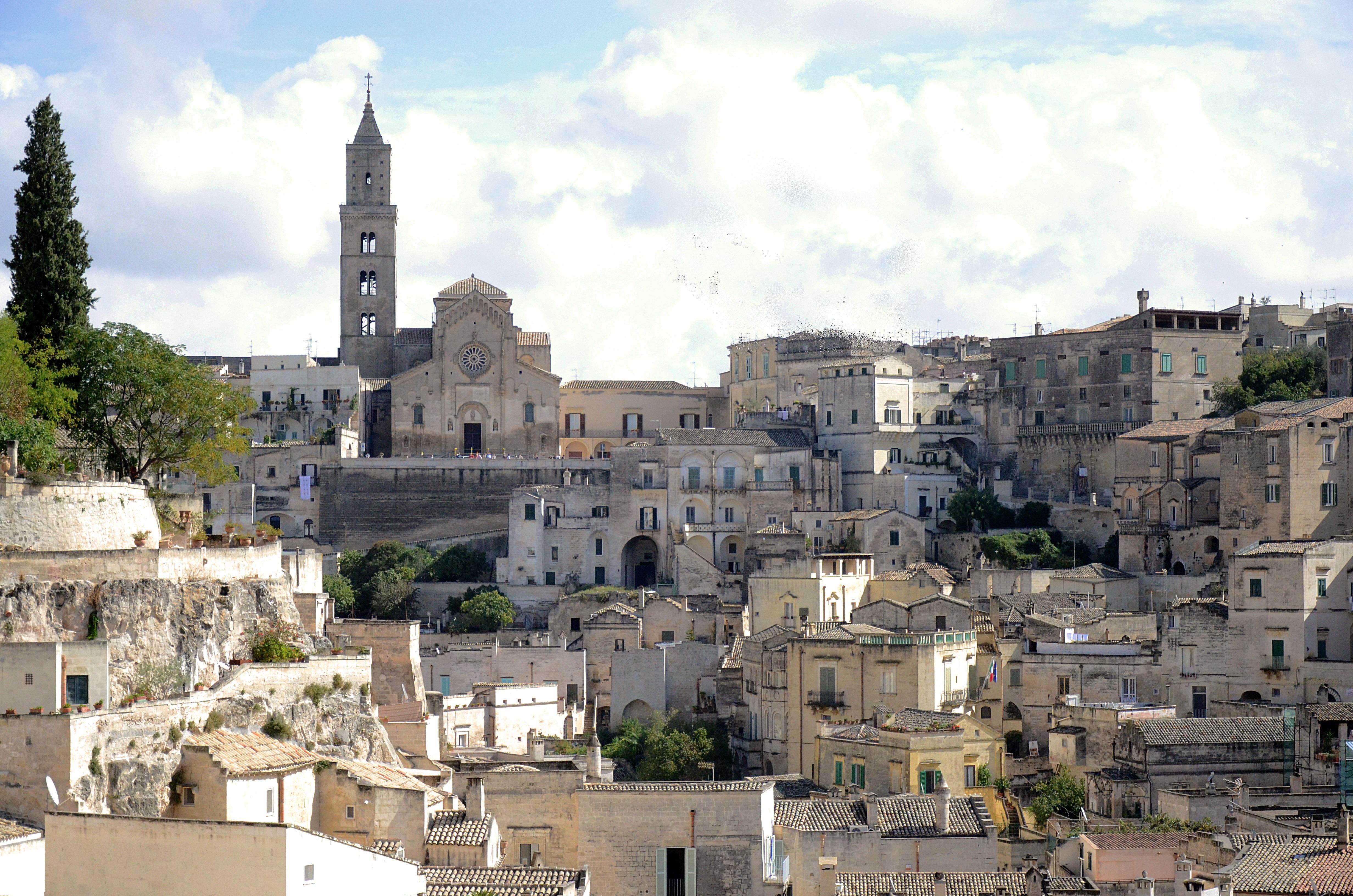 Kartinki Gorodskoj Pejzazh Orientir Italiya Ruiny Matera