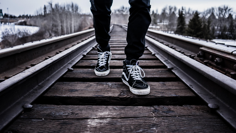 deece7cbc6 track railway railroad feet transport vehicle monochrome lane season shoes  sneakers footwear vans