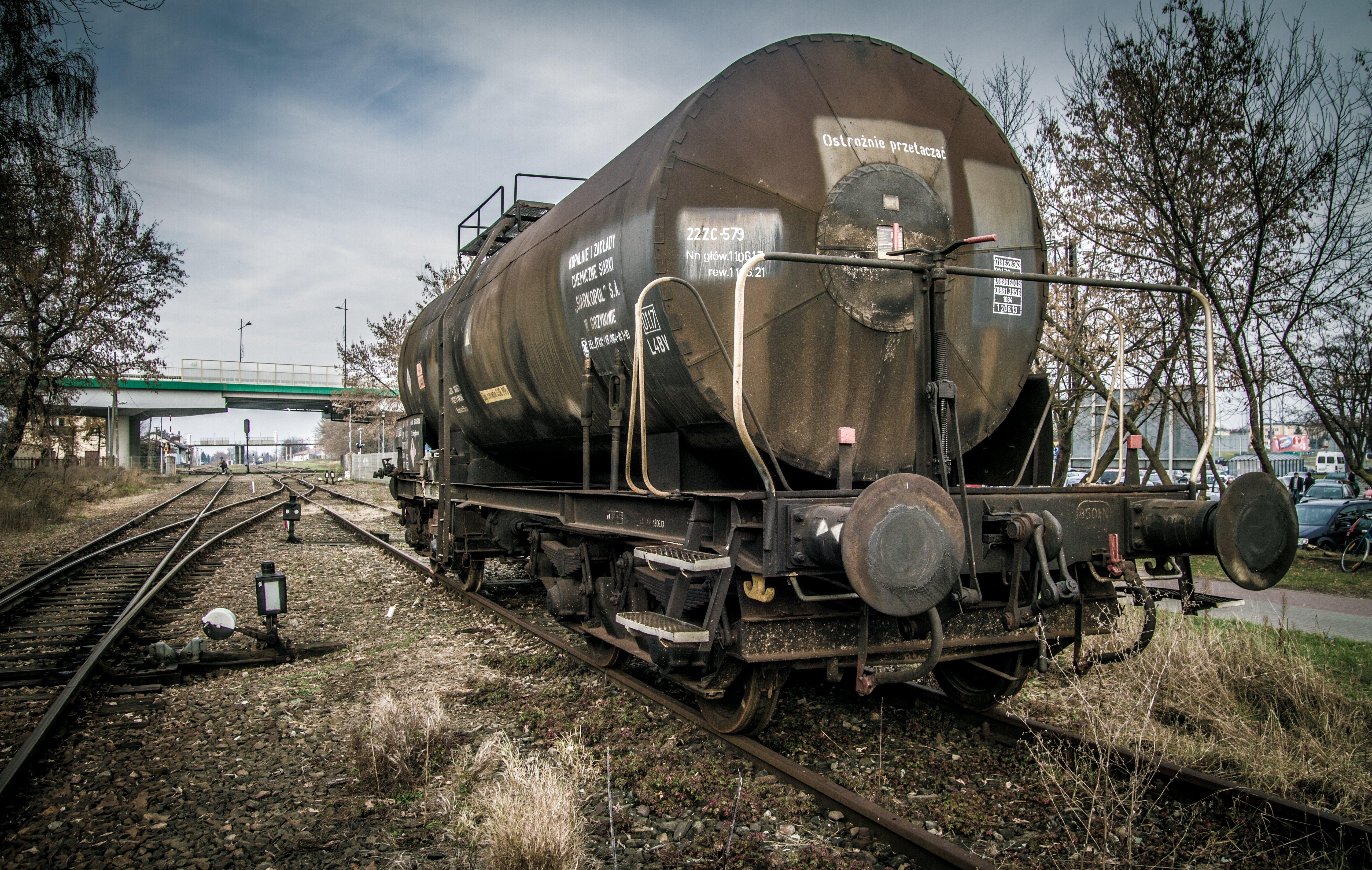 Fotograf Iz Yuk Vagonu Eski Tren Tanker Ulasim Nakliye