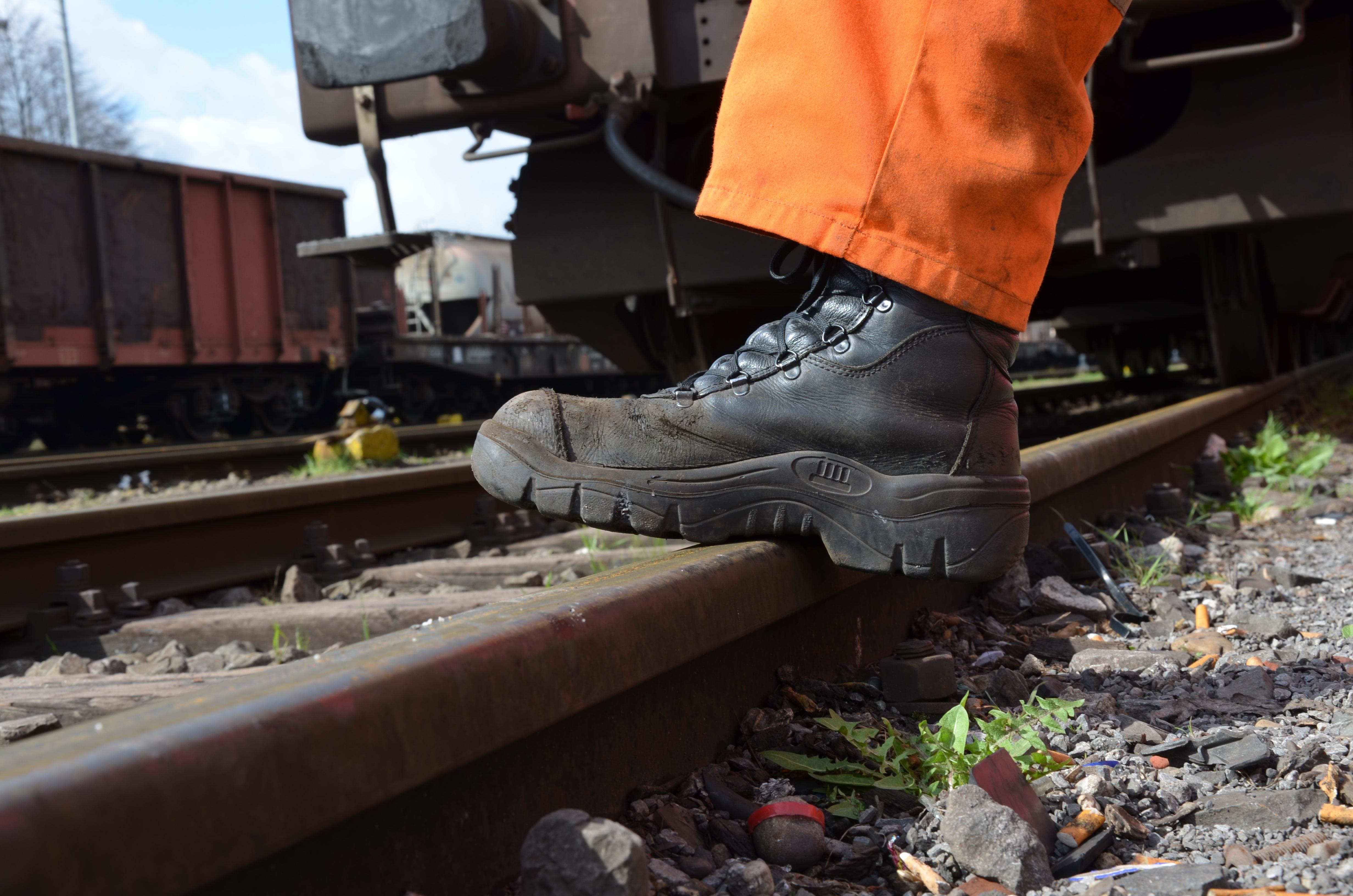 Free Images Track Train Footwear Railway Tracks Rail
