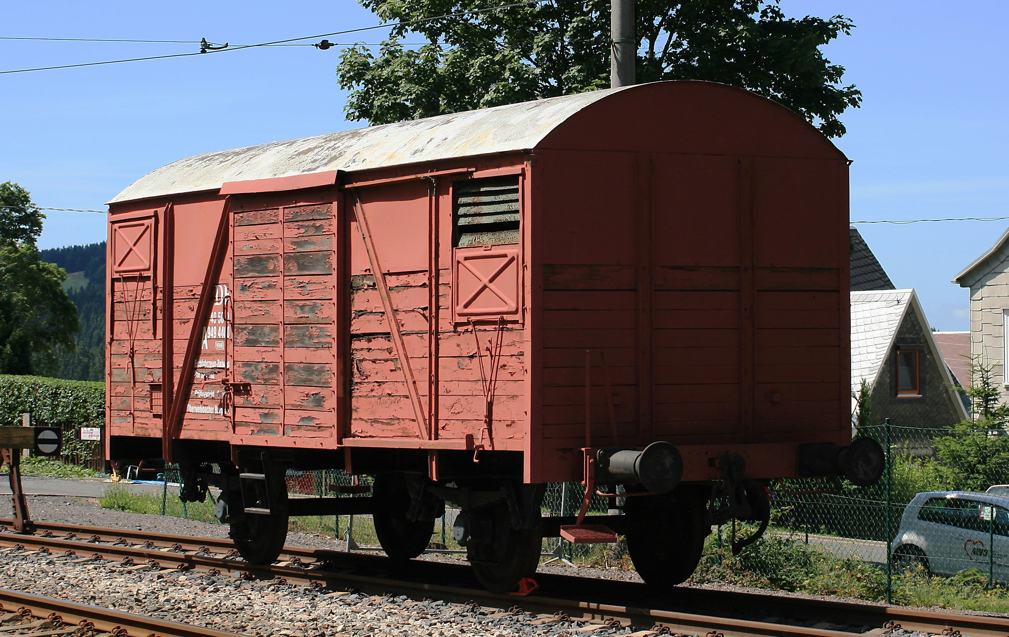 Fotograf Iz Yuk Vagonu Eski Tren Nakliye Kirmizi Arac