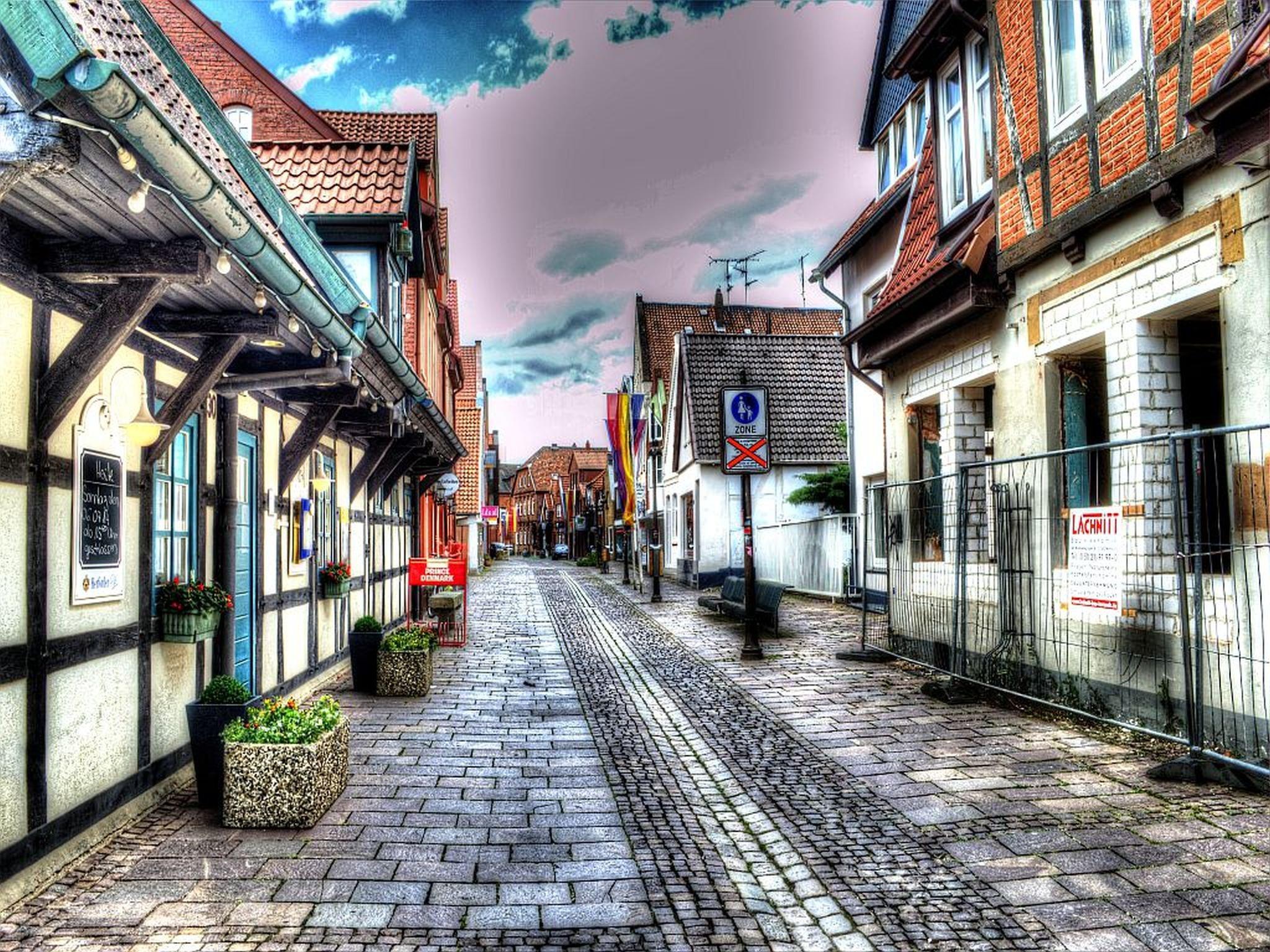 Обои старый город, дома, old city, улица, town, Old street. Города foto 9