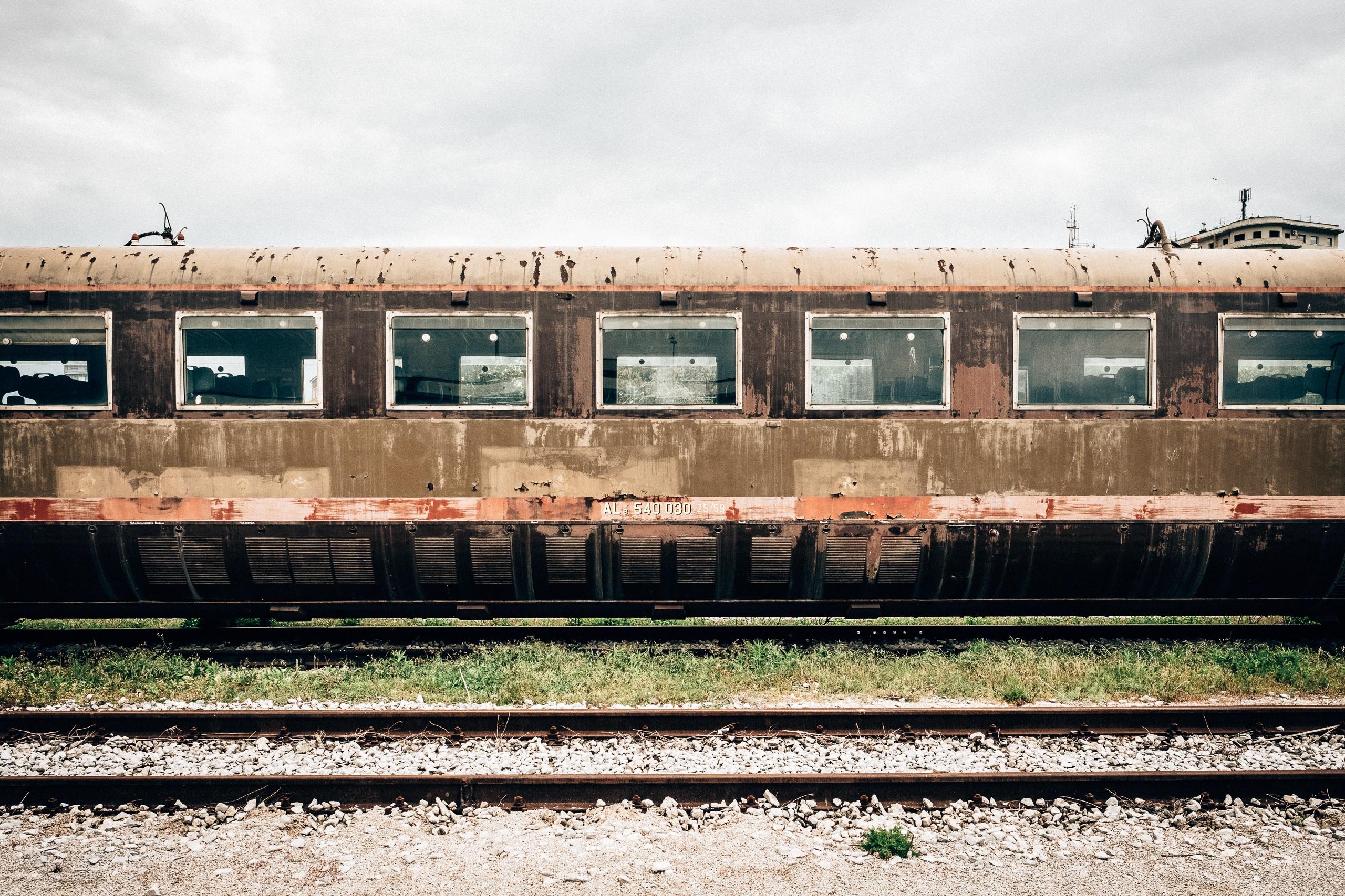 Fotograf Iz Tren Nakliye Arac Lokomotif Kargo Yolcu