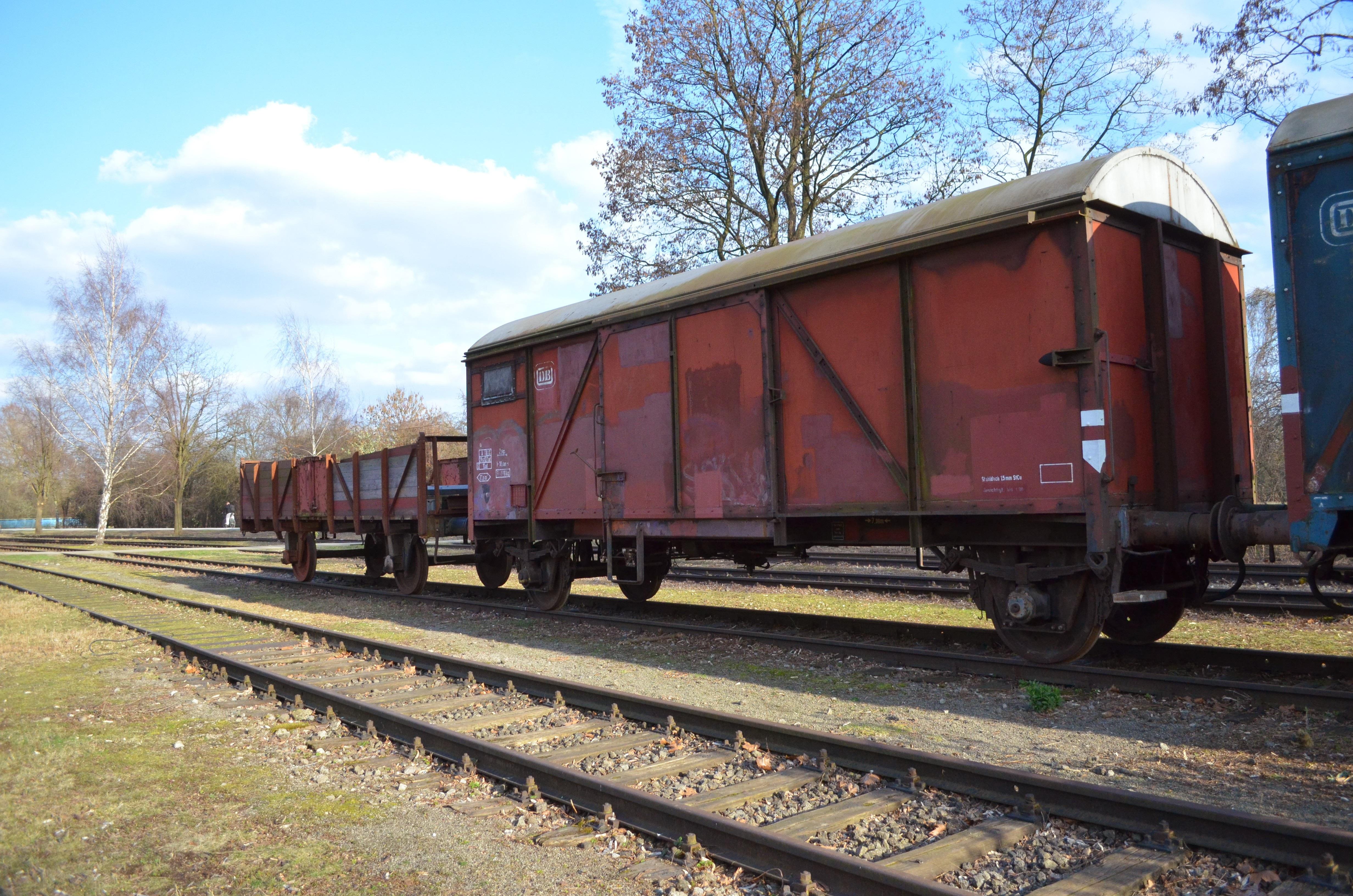 Fotograf Iz Yuk Vagonu Eski Tren Nakliye Arac Lokomotif