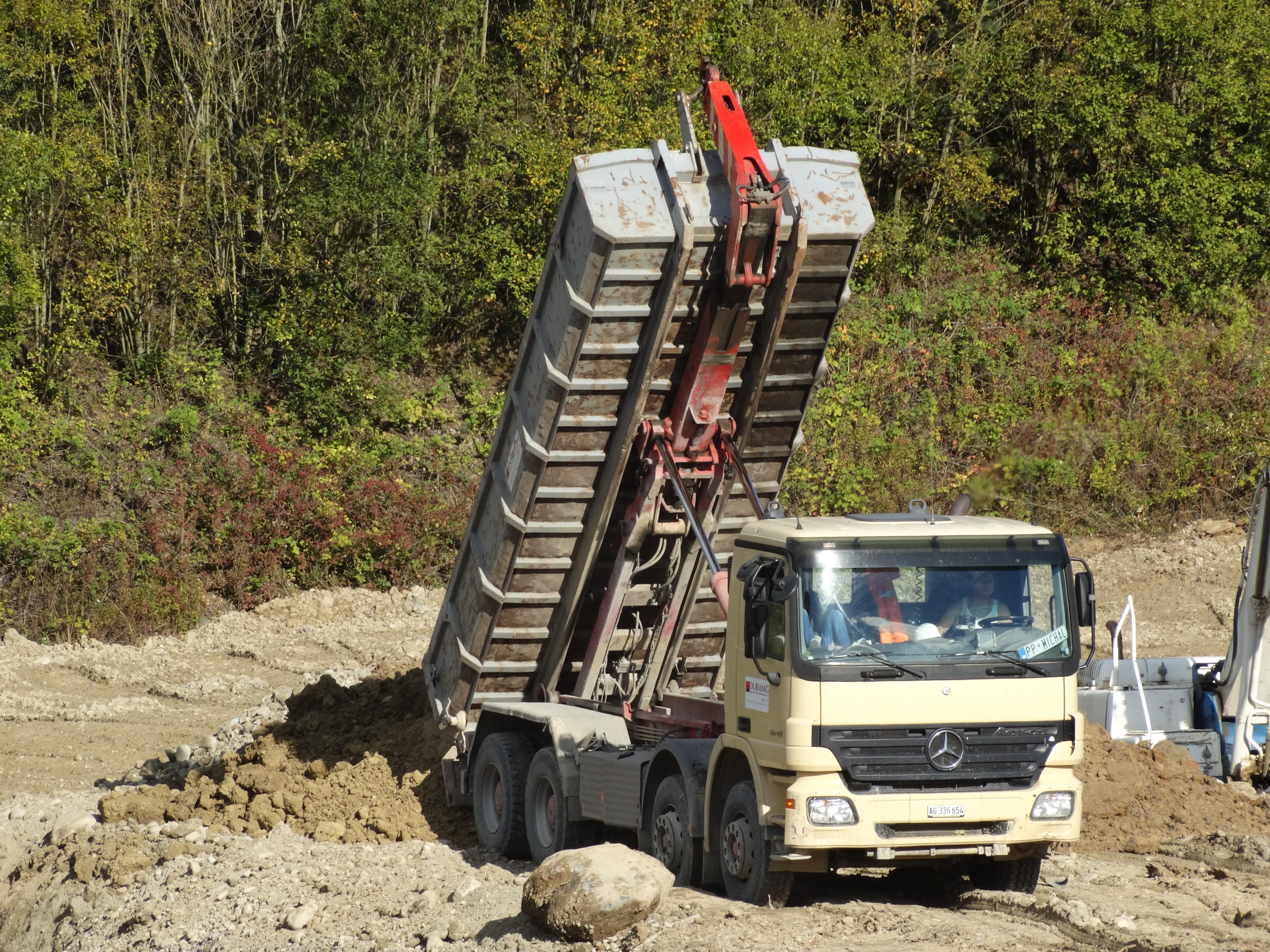 Transport Construction Truck Vehicle Soil Earth Download Site Dump Equipment Kieswerk Off Roading Tilt