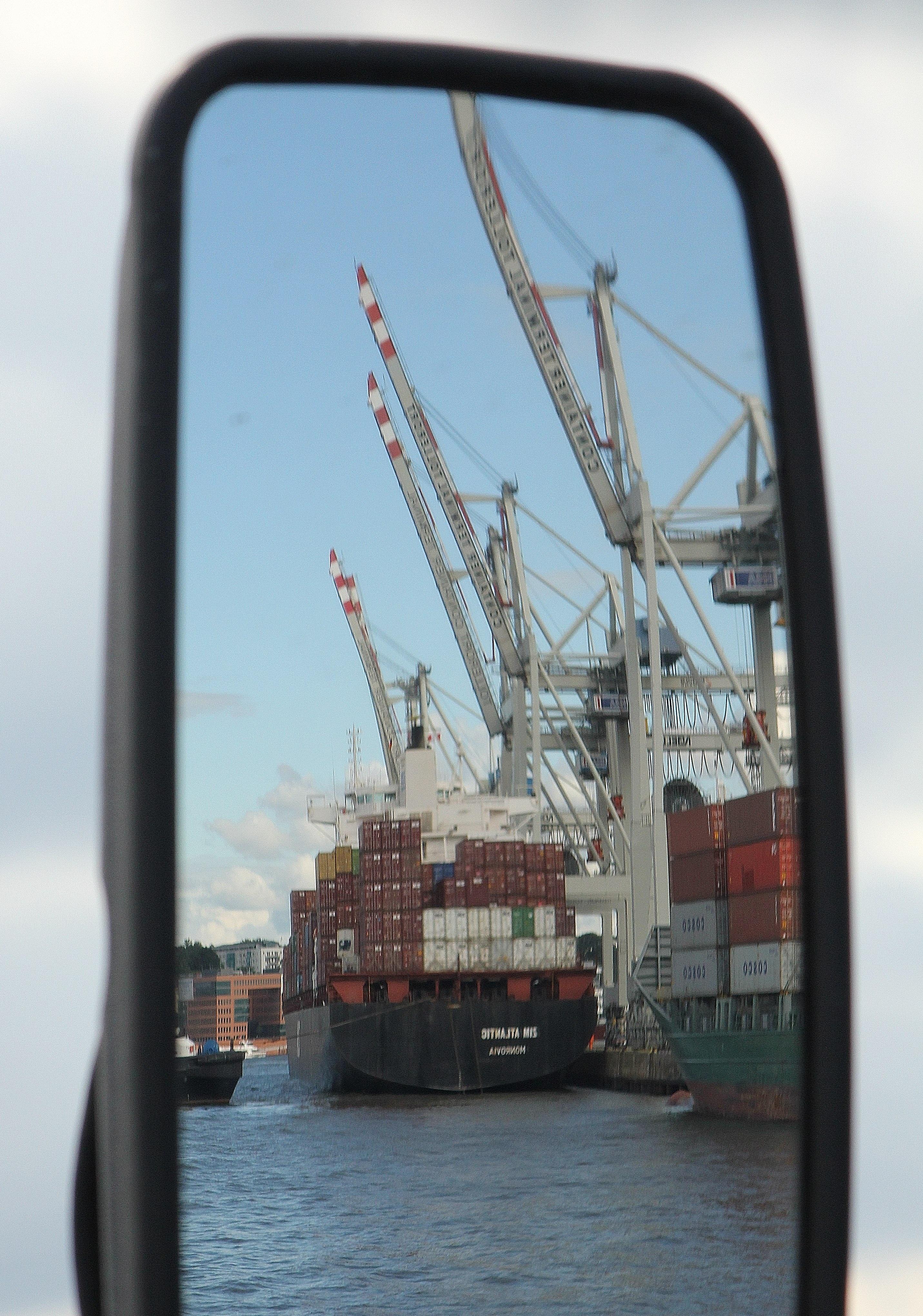 vận chuyển Xe Hàng hóa ôn tập Tàu container ảnh phản chiếu Vận chuyển hàng hóa