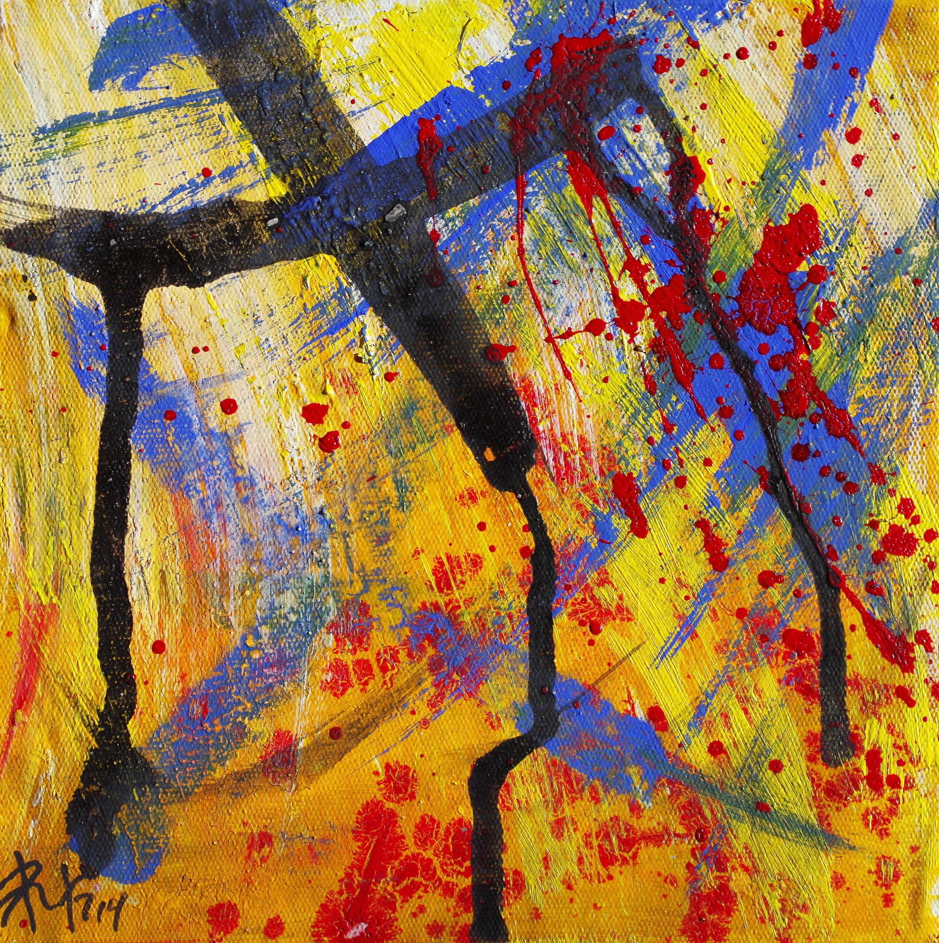 Картины из цветов на тему осень