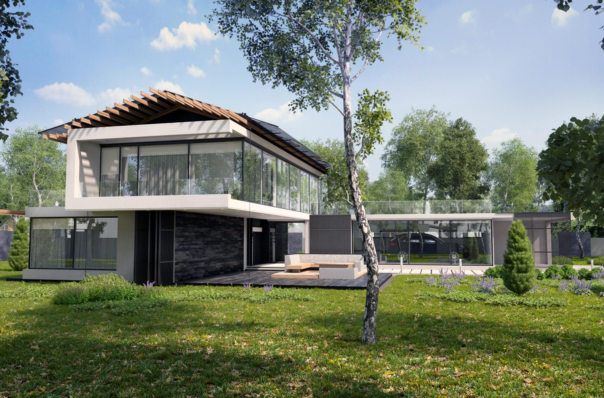 Banco de imagens rvore arquitetura villa casa for Piani casa cottage acadian