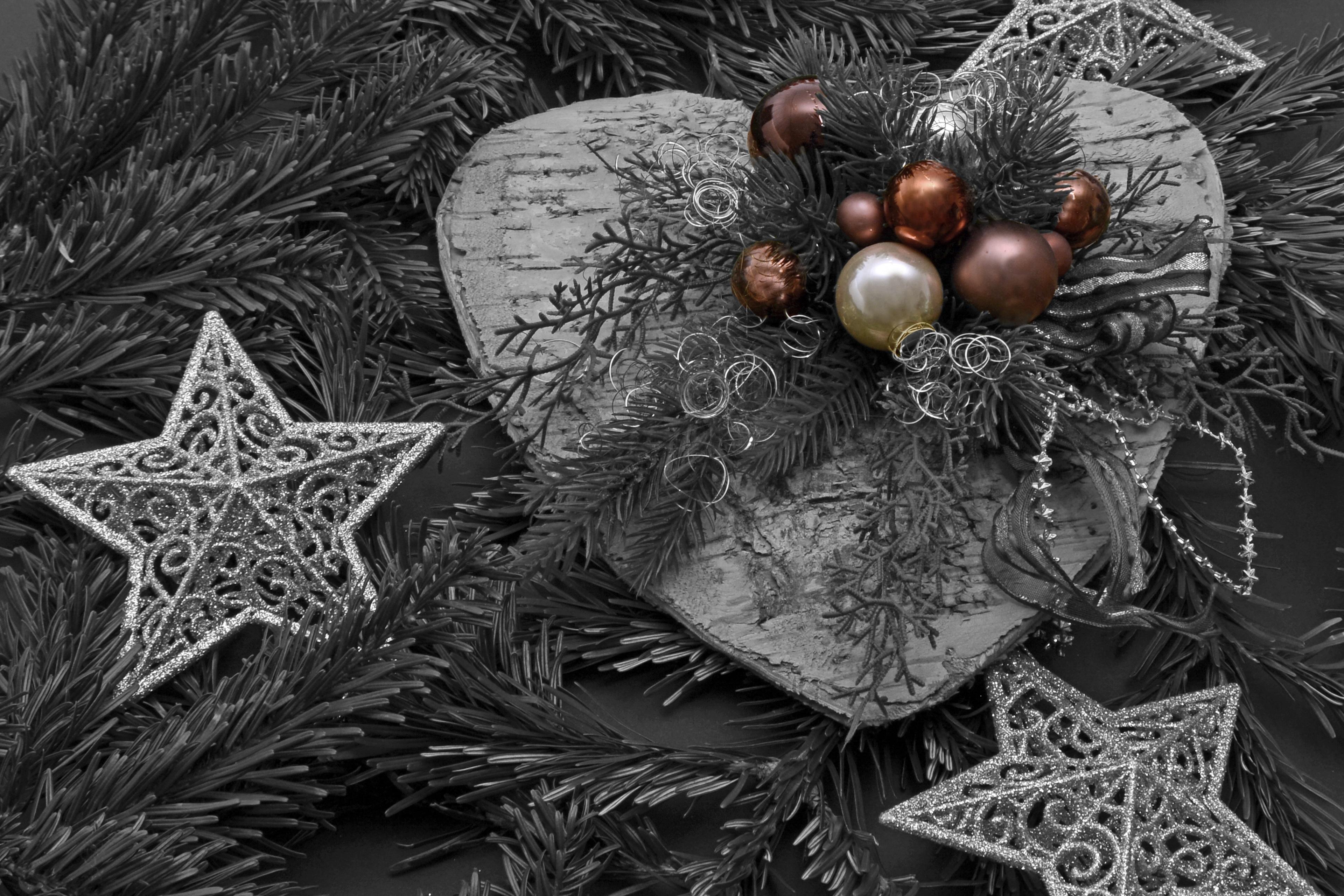 Gambar Pohon Cabang Hitam Dan Putih Menanam Bintang Daun Hijau Kegelapan Satu Warna Hari Natal Berkilau Kedatangan Dekorasi Natal Waktu Natal Bertinta Sumbat Holly Kartu Ucapan Bola Natal Selamat Natal Natal