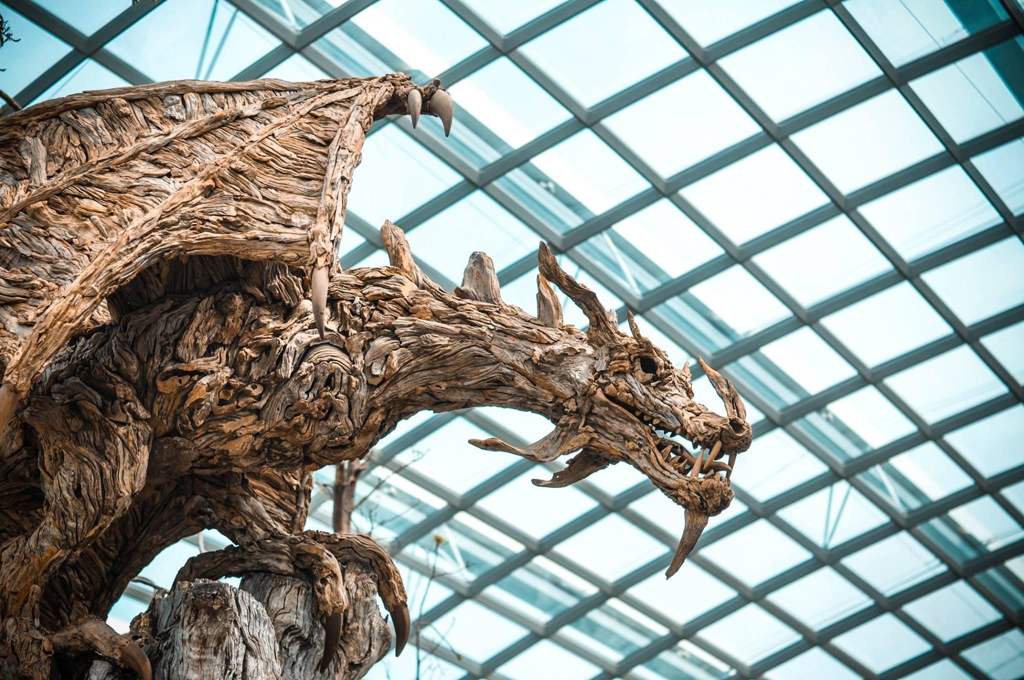 Gambar Pohon Cabang Kayu Bunga Asia Cina Patung