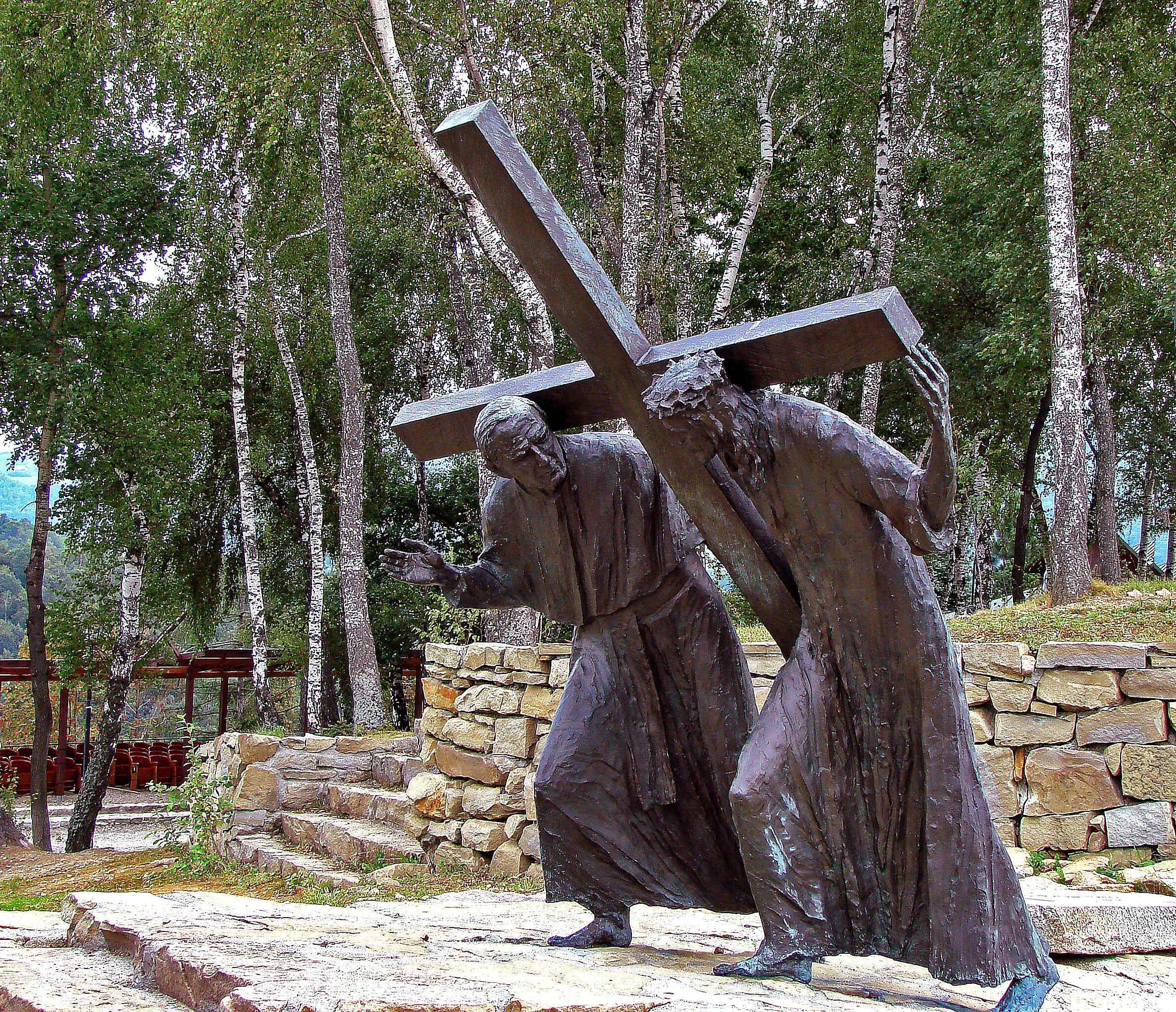Free images : tree city monument statue sculpture christ