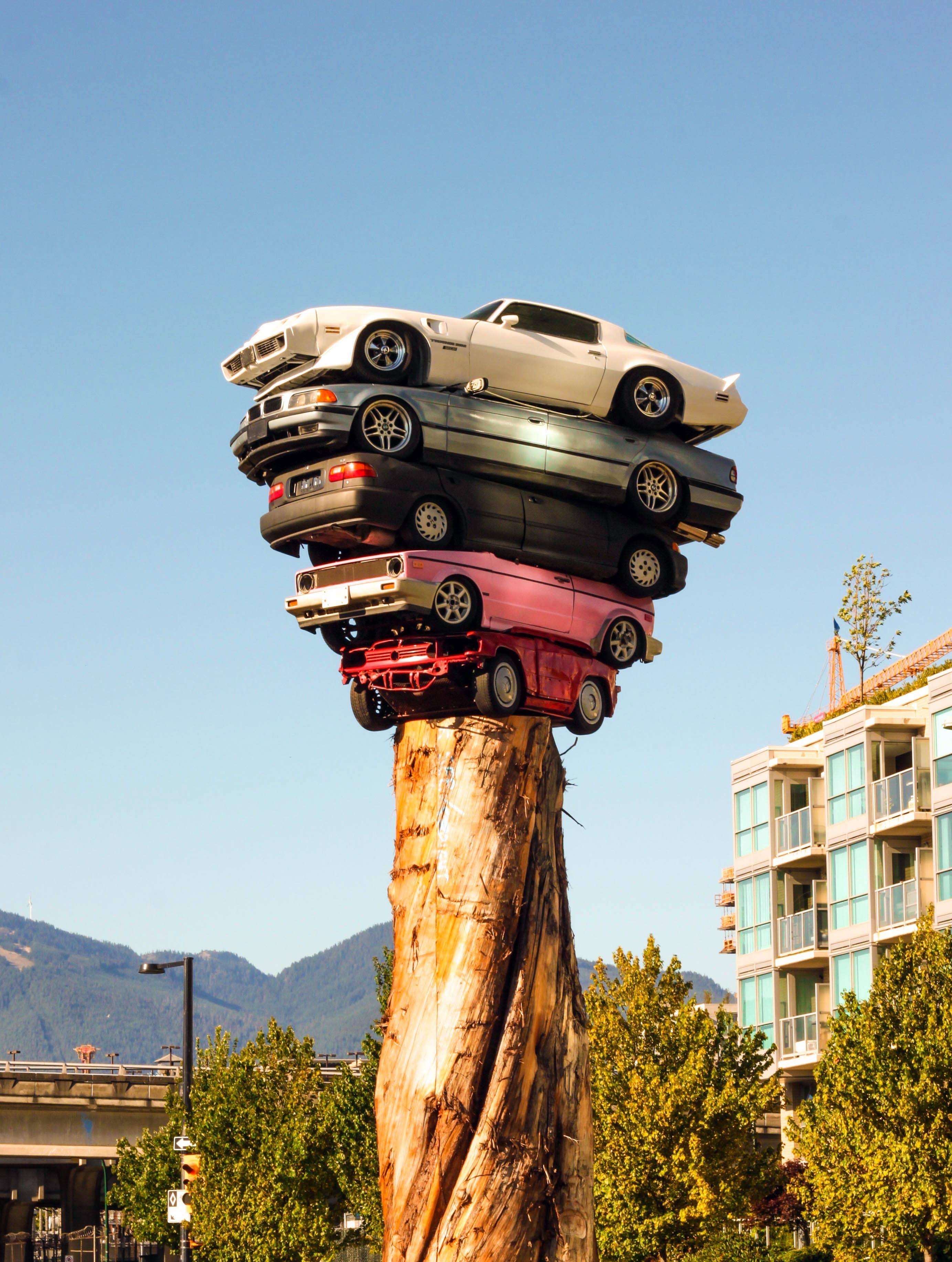 Tree Creative City Urban Statue Decoration Amusement Park Tower Park  Artistic Landmark Modern Artwork Totem Pole