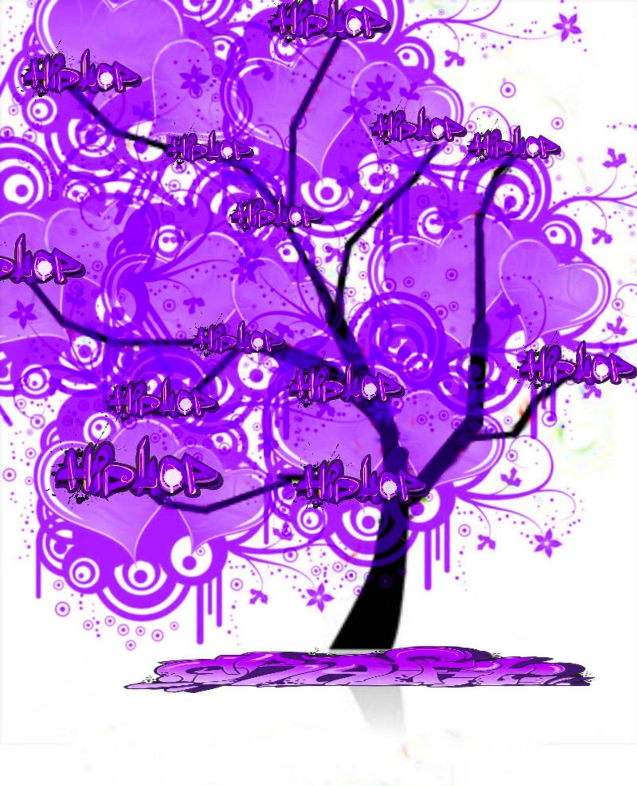 Images gratuites arbre fleur violet mod le ligne for Ligne de fleurs