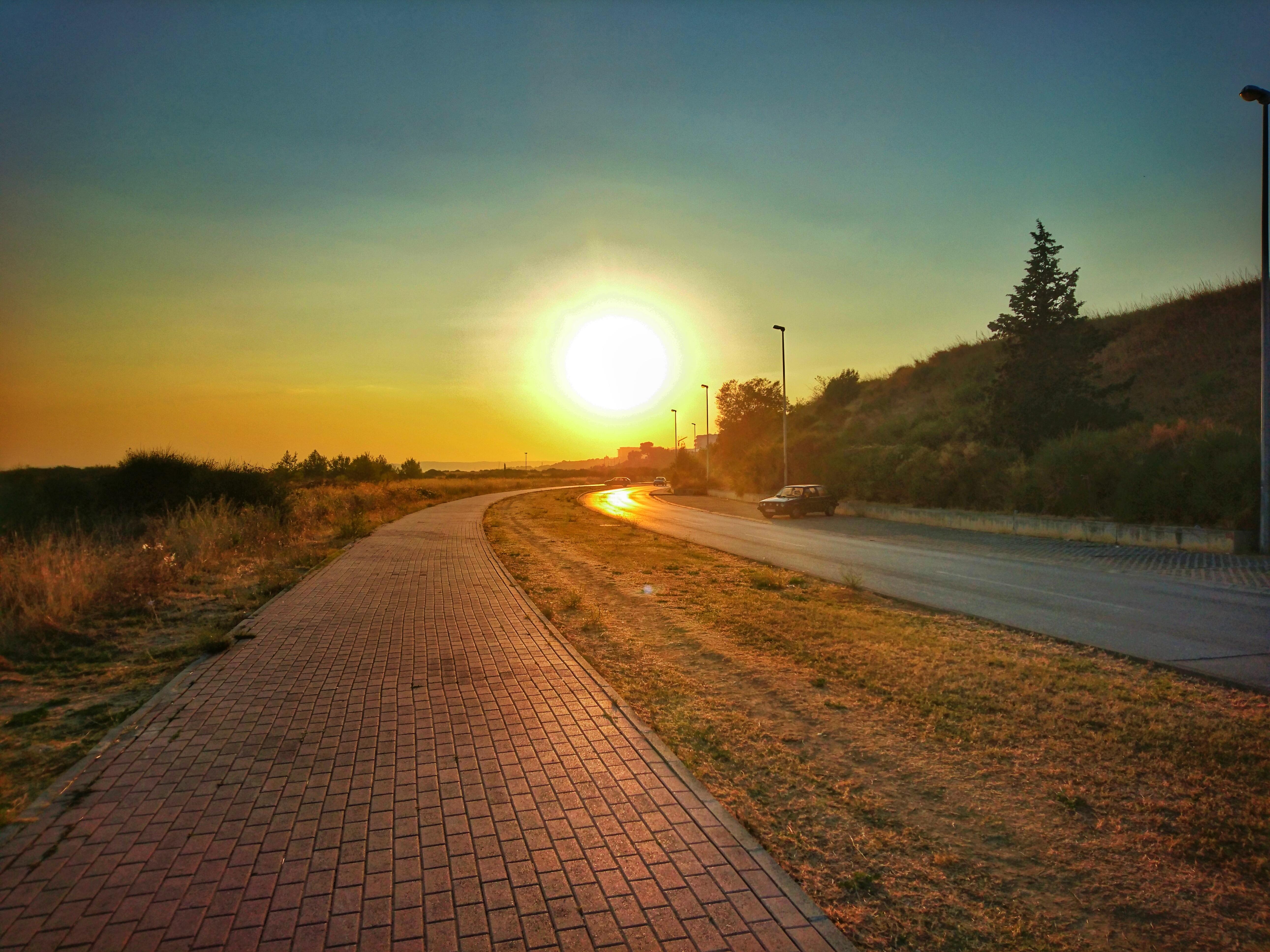 солнце на дороге картинки элемент пришел