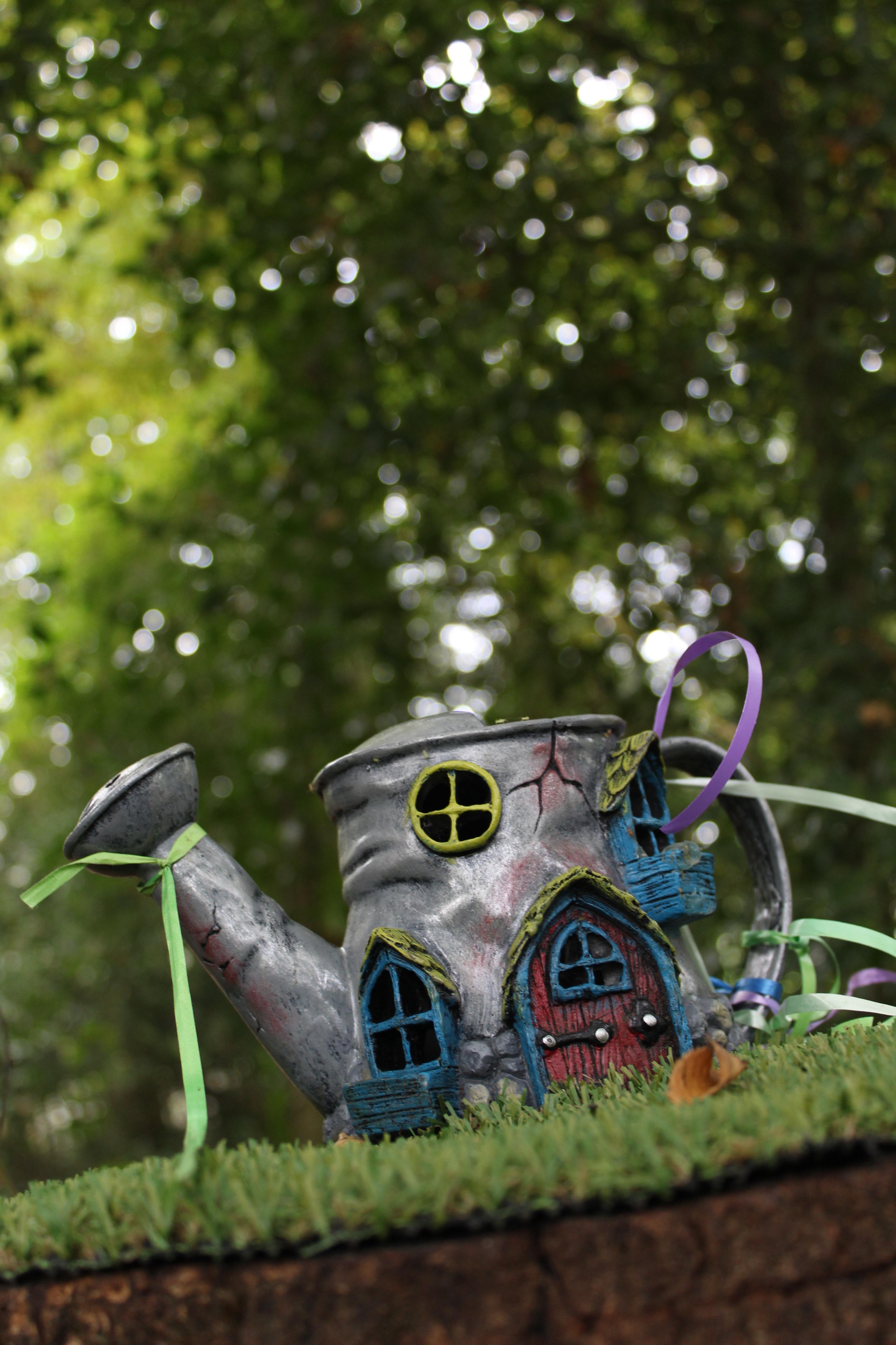 tree grass lawn house leaf flower teapot green vehicle garden art fantasy yard fairy